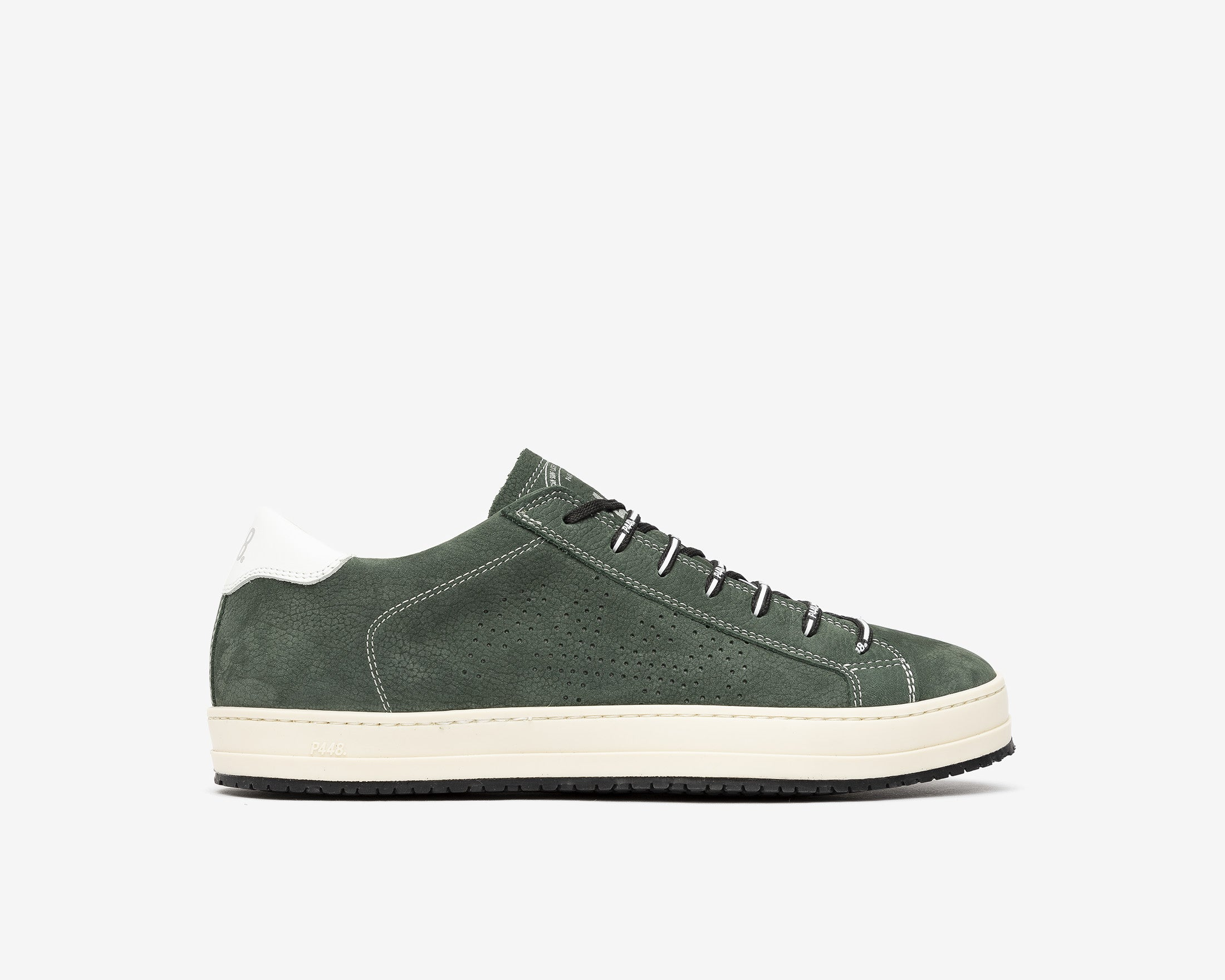 JohnV Low-Top Sneaker in Green Luxor - Profile