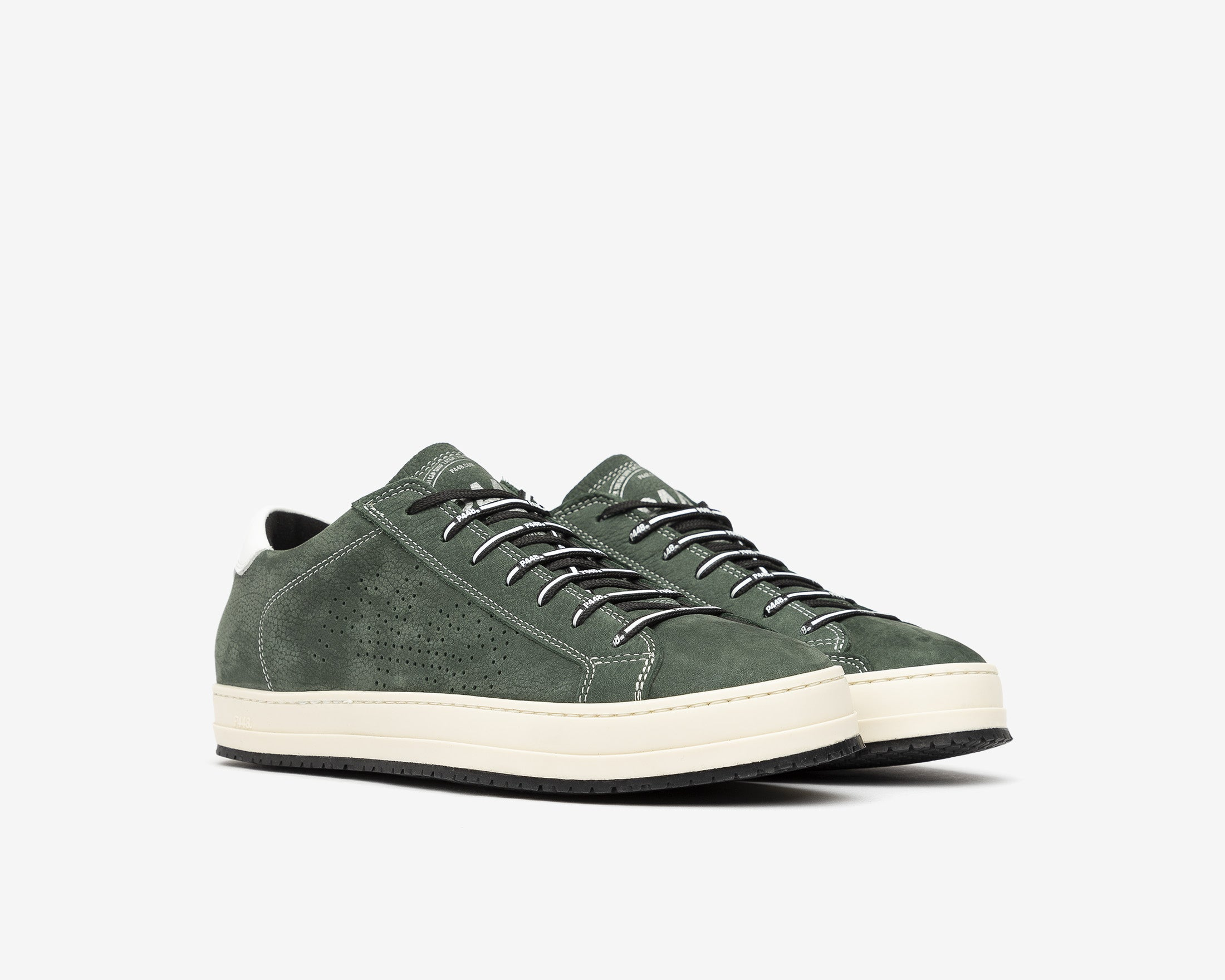 JohnV Low-Top Sneaker in Green Luxor - Side