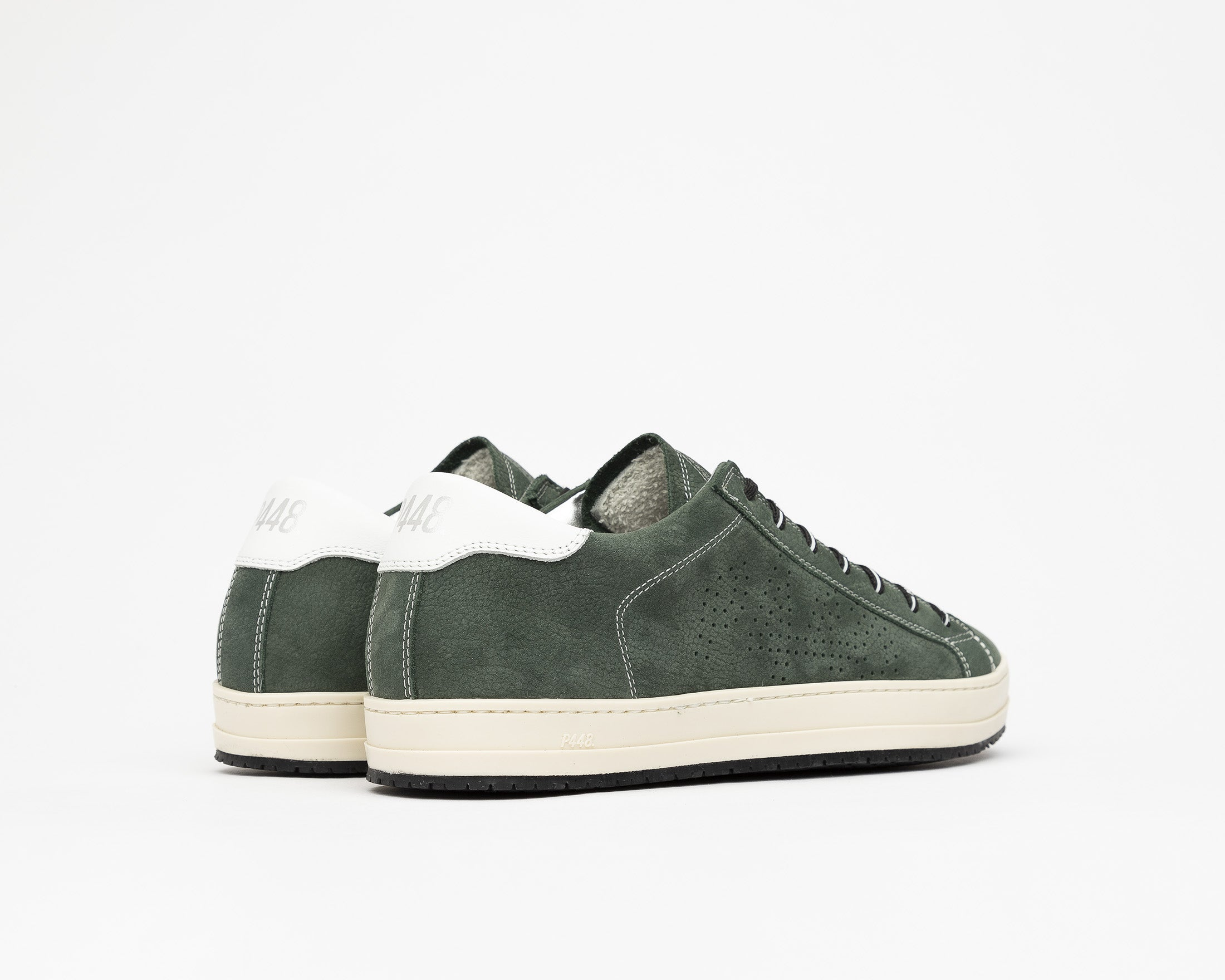 JohnV Low-Top Sneaker in Green Luxor - Back