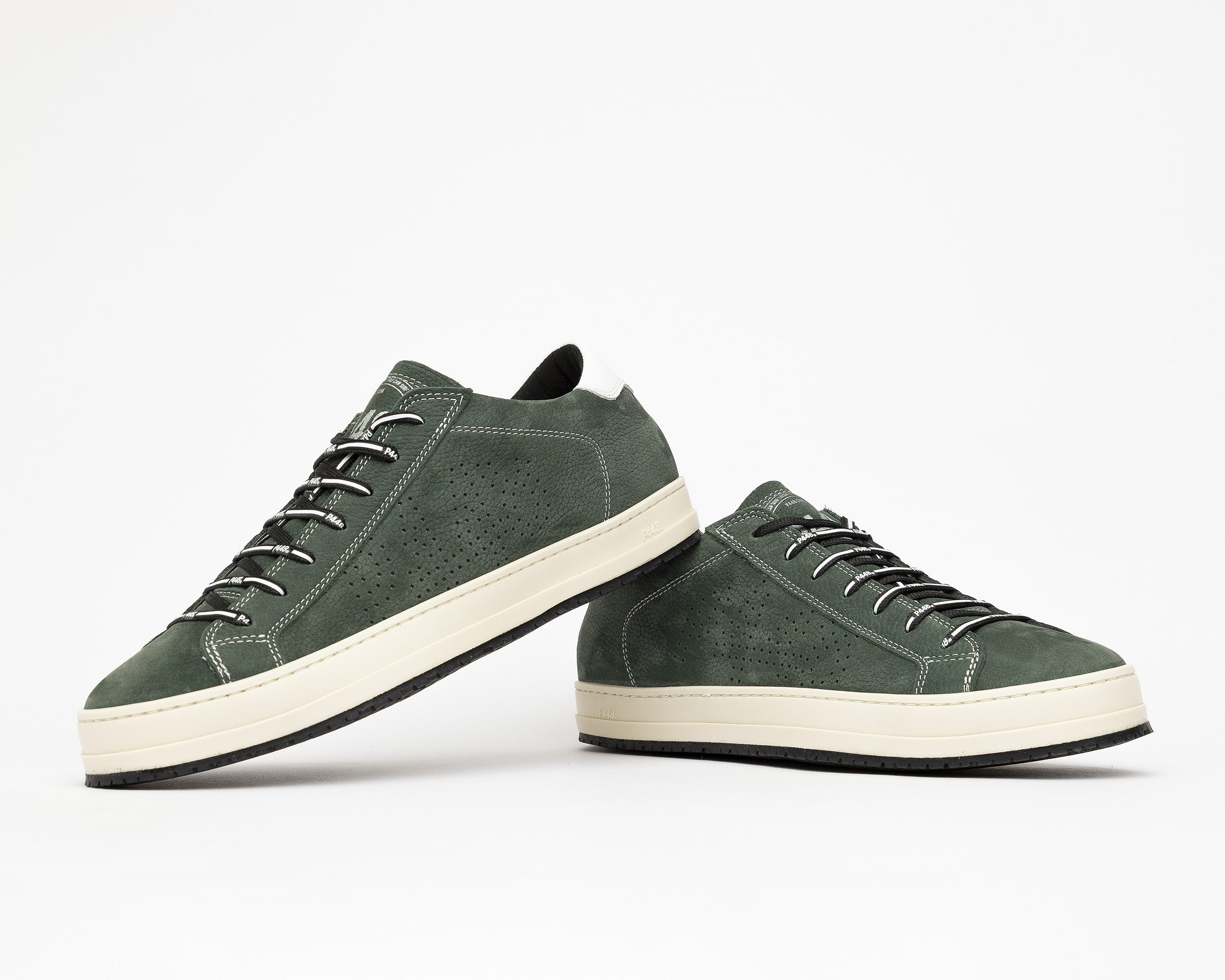 JohnV Low-Top Sneaker in Green Luxor - Detail 1