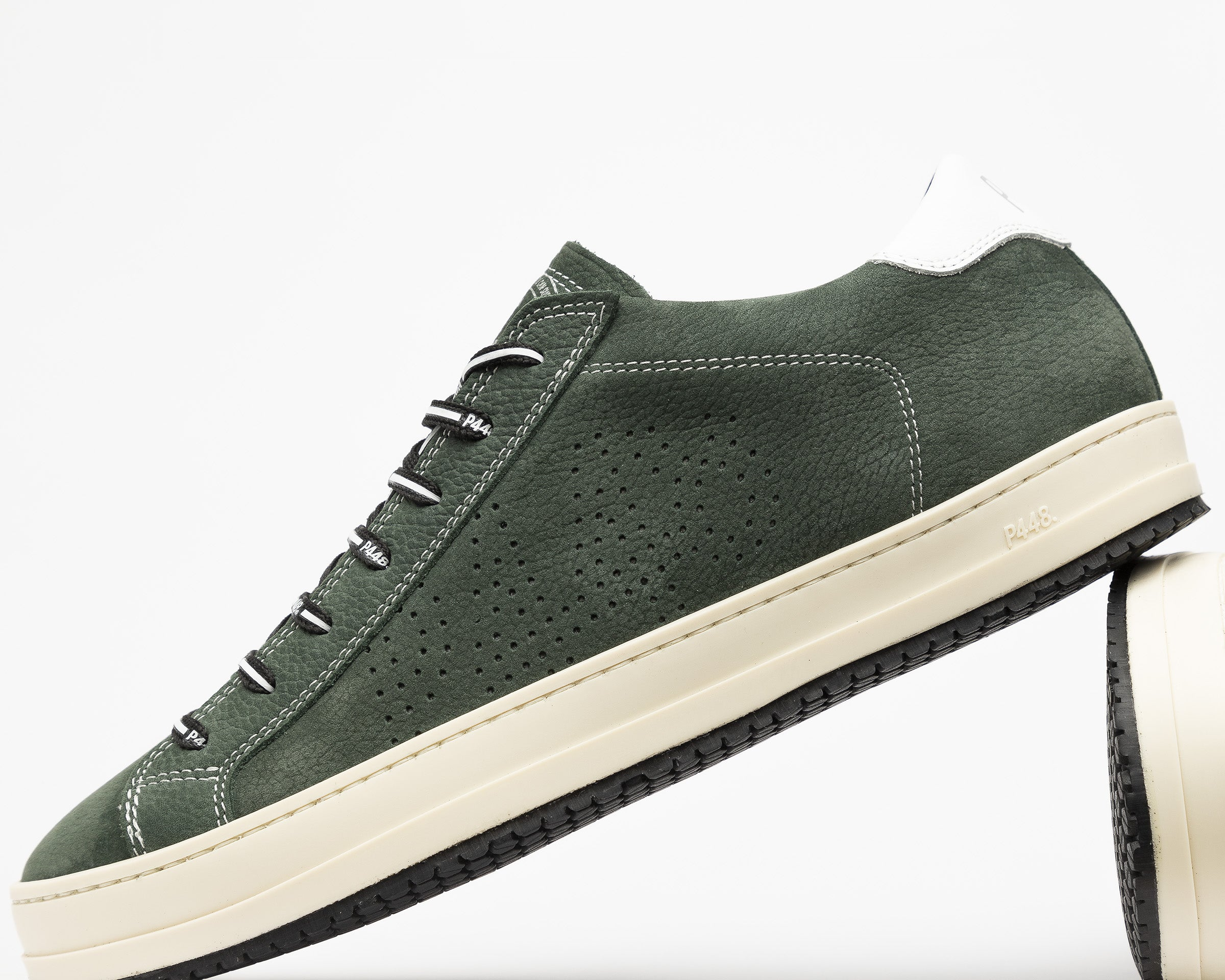 JohnV Low-Top Sneaker in Green Luxor - Detail 2