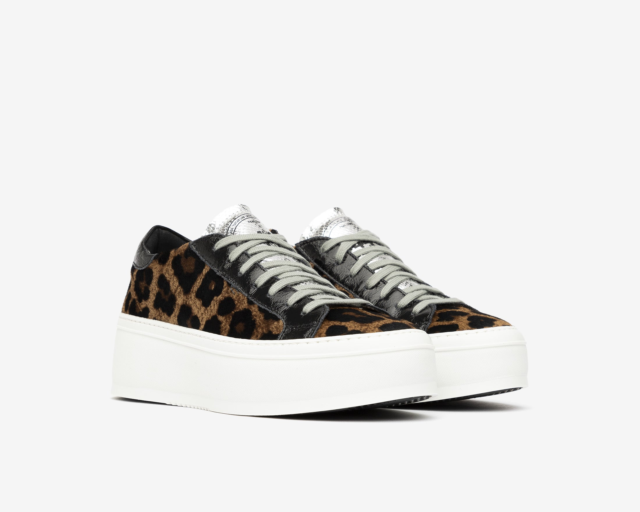 Louise Platform Sneaker in Cow/Leopard - Side