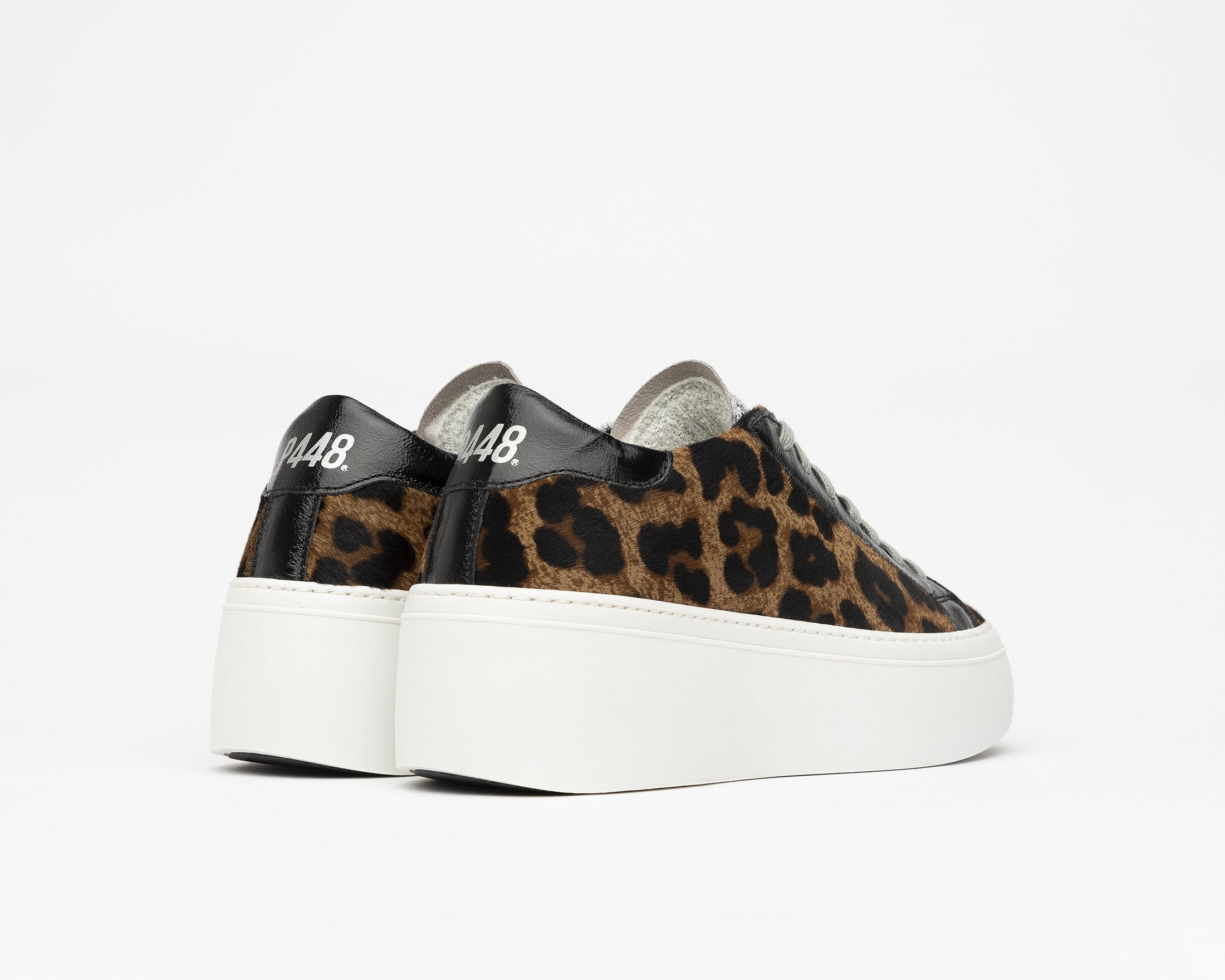 Louise Platform Sneaker in Cow/Leopard - Back