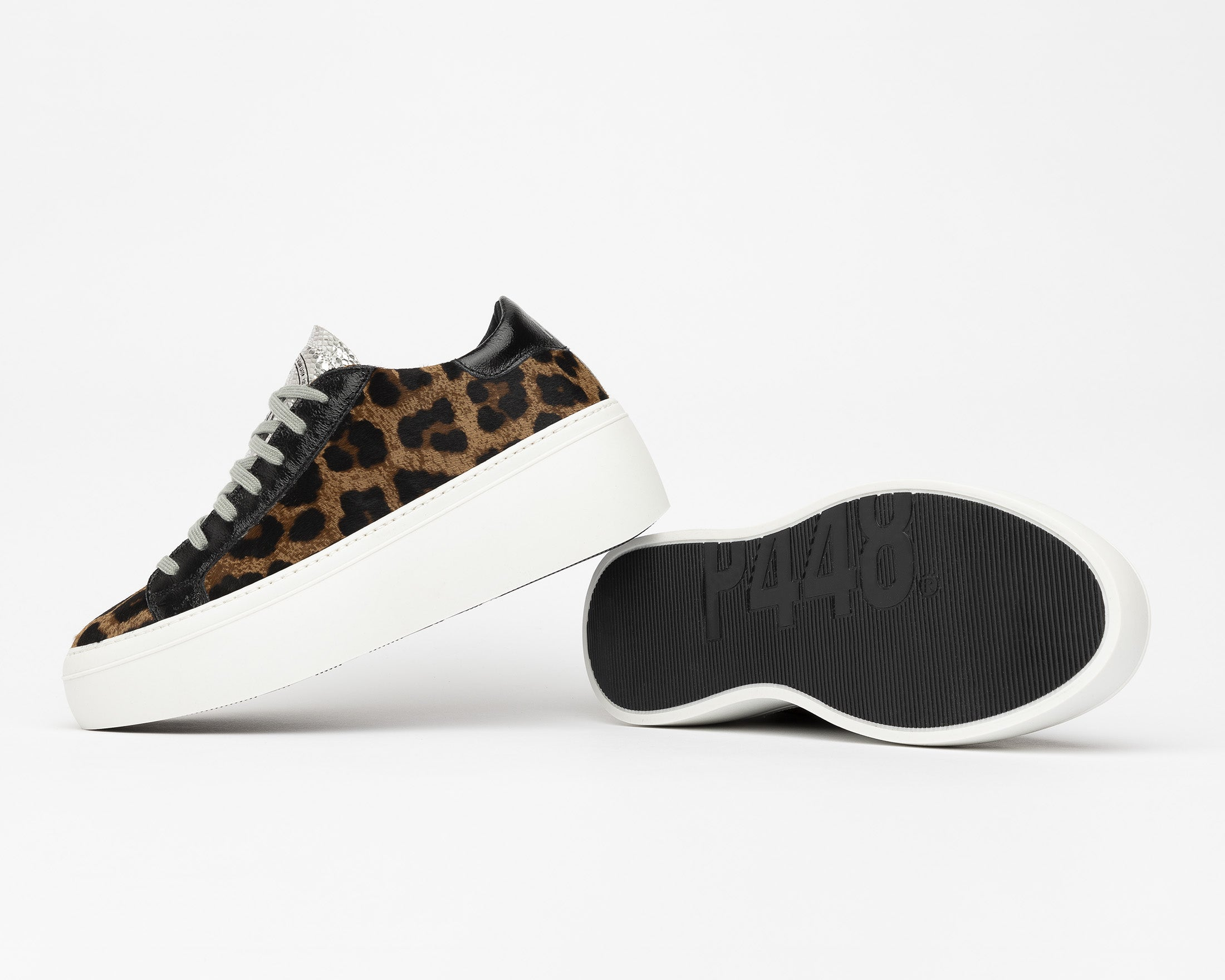 Louise Platform Sneaker in Cow/Leopard - Detail 1