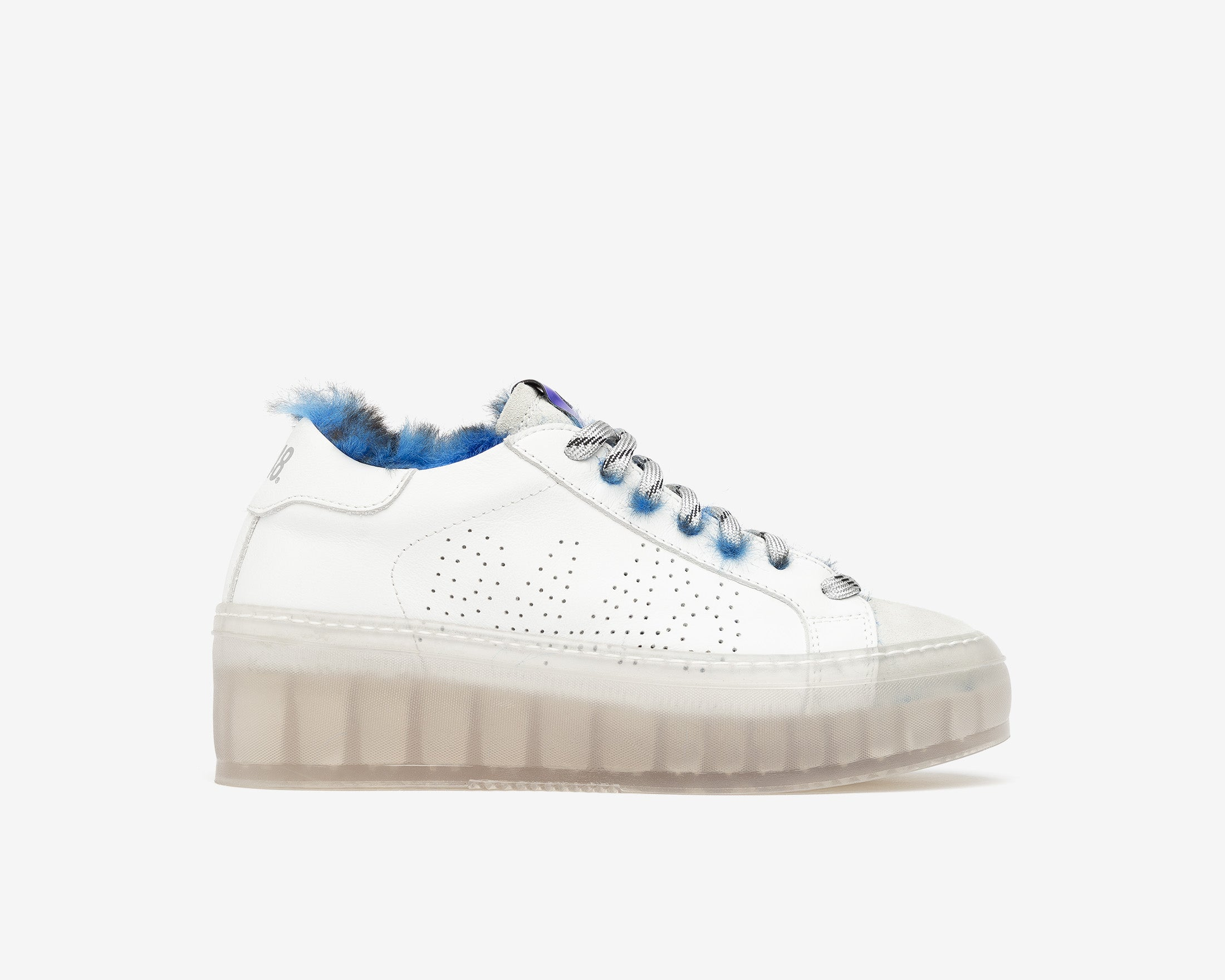 Louise Platform Sneaker in Royal Fur/TGlass - Profile