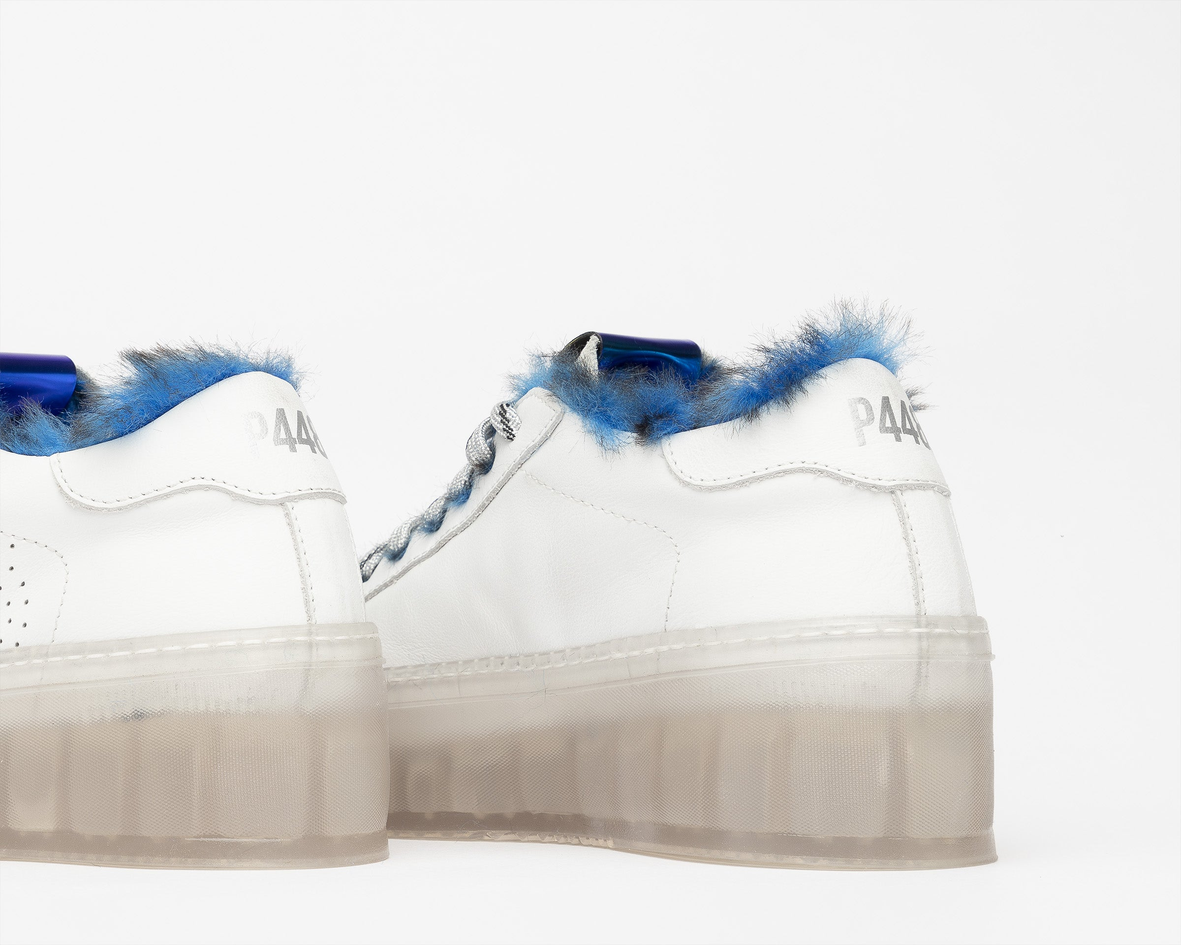 Louise Platform Sneaker in Royal Fur/TGlass - Detail 2