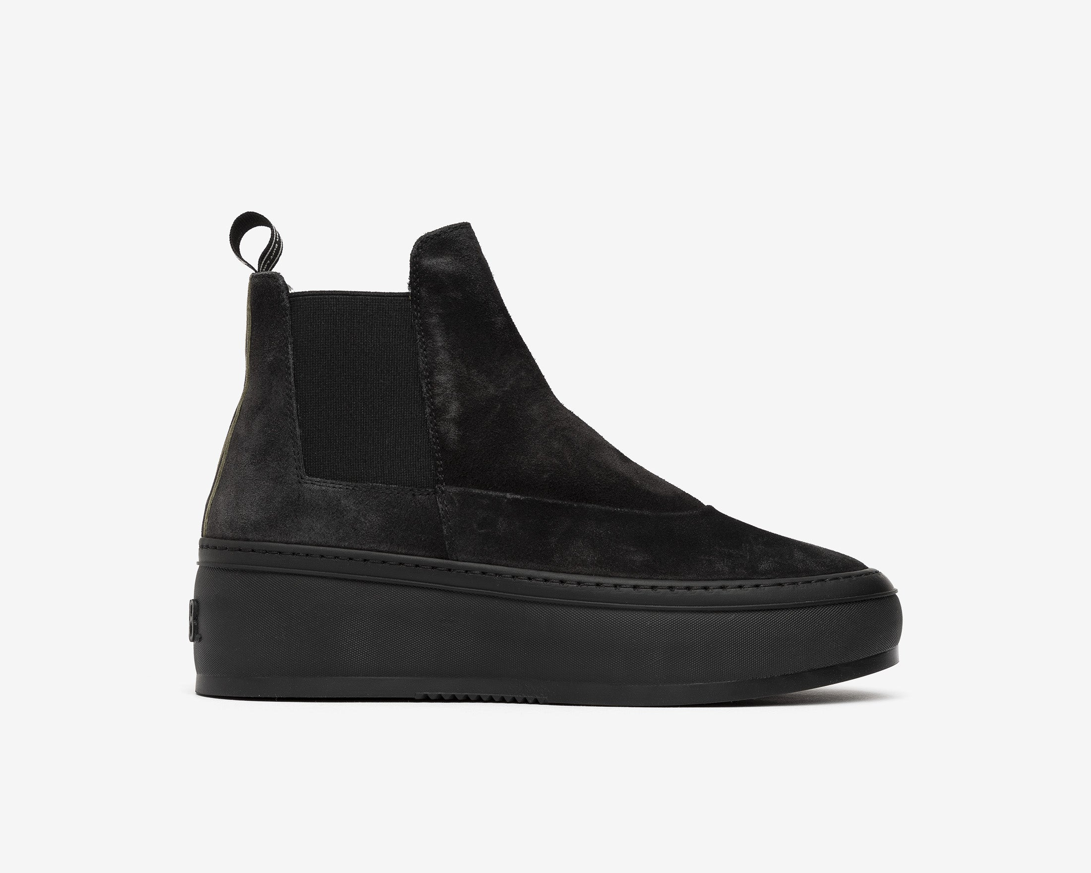 Lucy Chunky Platform Sneaker in Black/Army Zeb - Profile