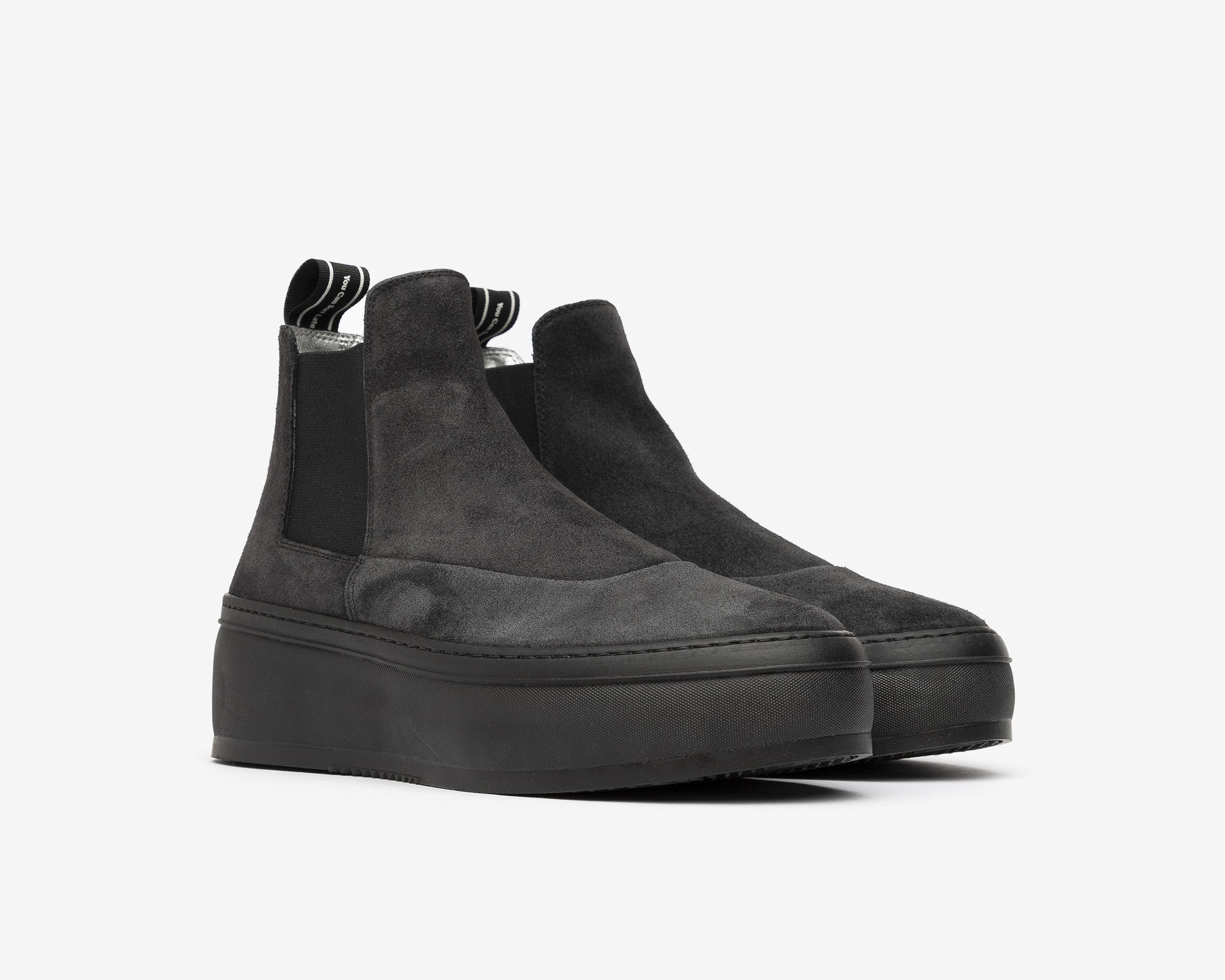 Lucy Chunky Platform Sneaker in Black/Army Zeb - Side