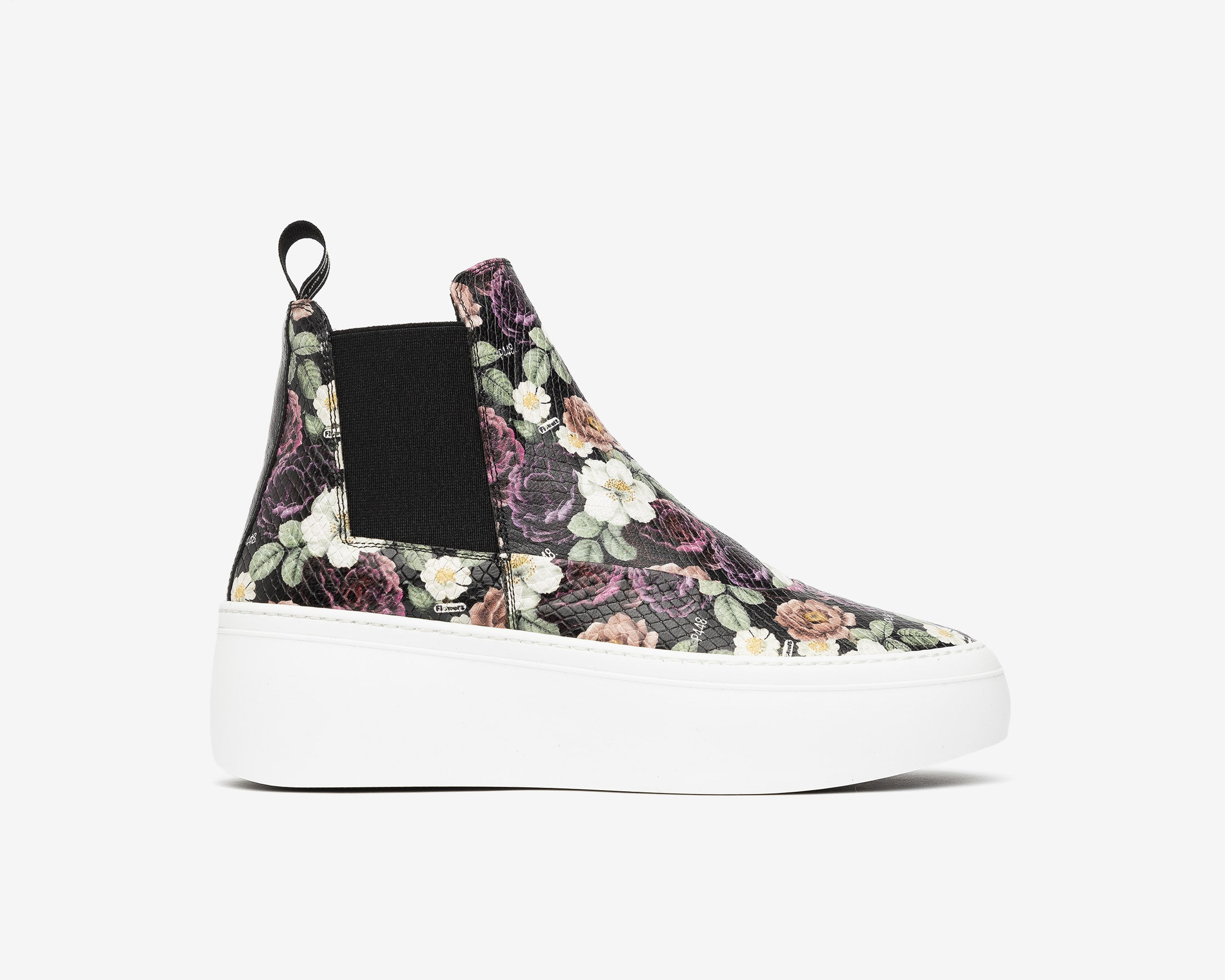 Lucy Chunky Platform Sneaker in Flowers - Profile