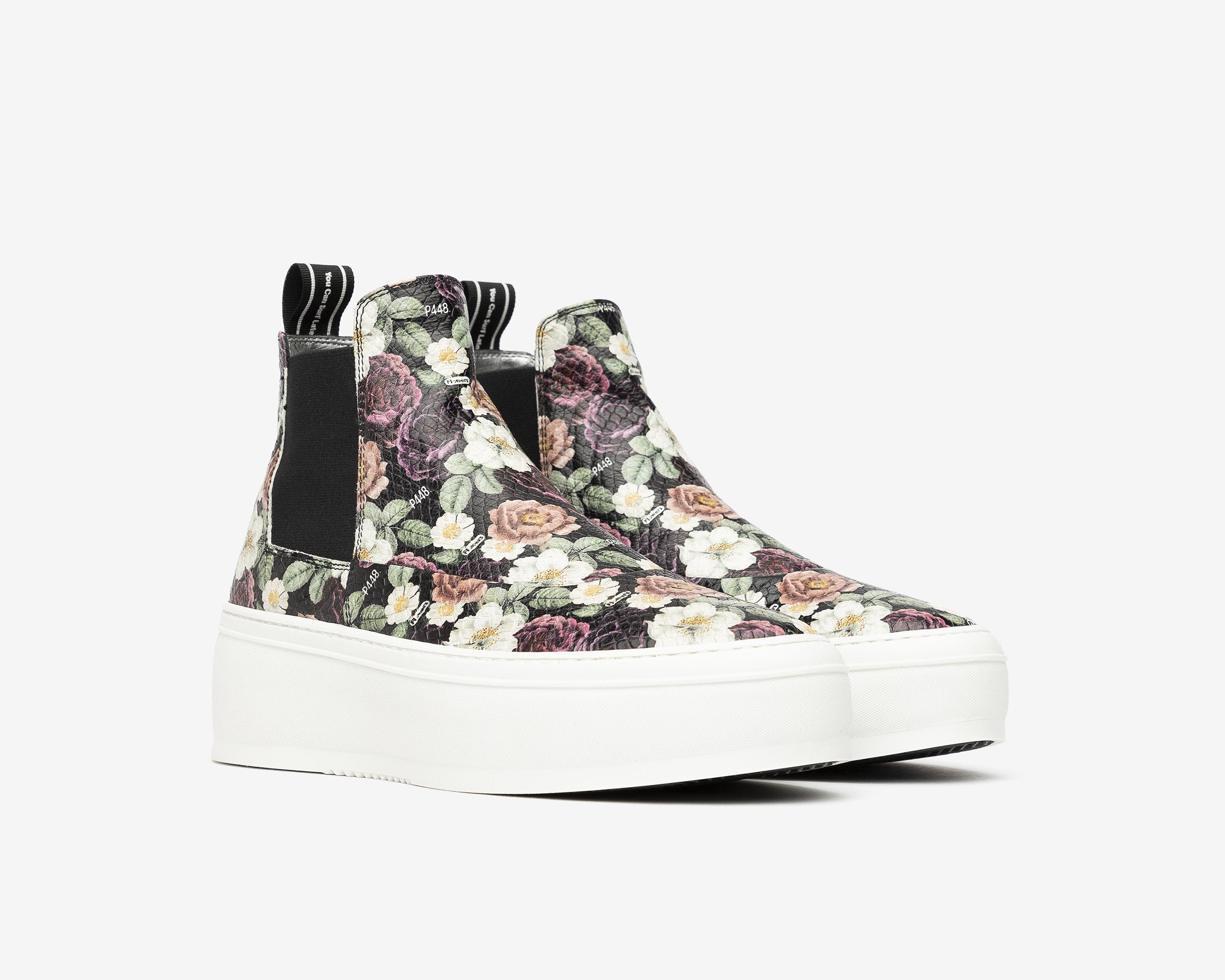 Lucy Chunky Platform Sneaker in Flowers - Side