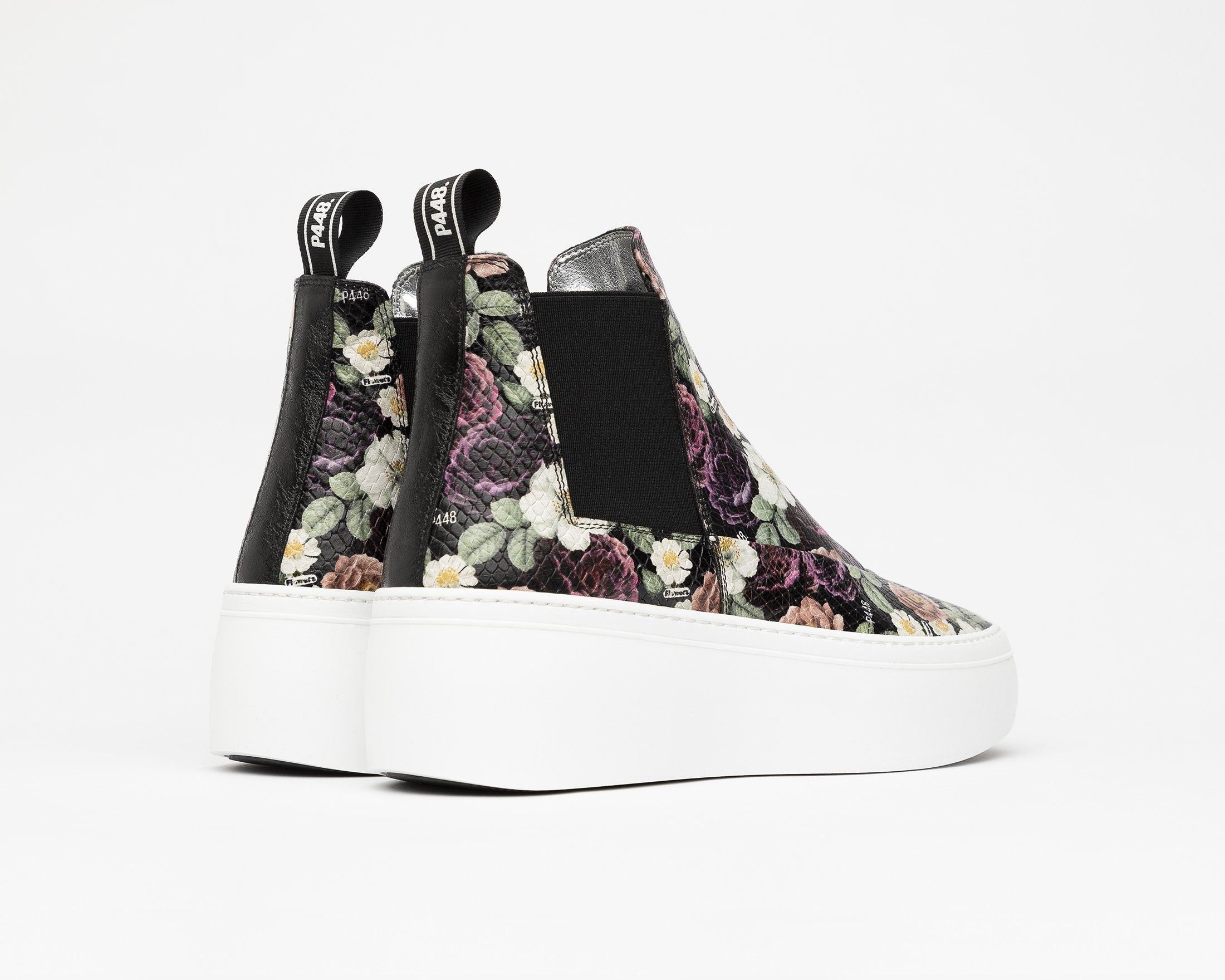 Lucy Chunky Platform Sneaker in Flowers - Back