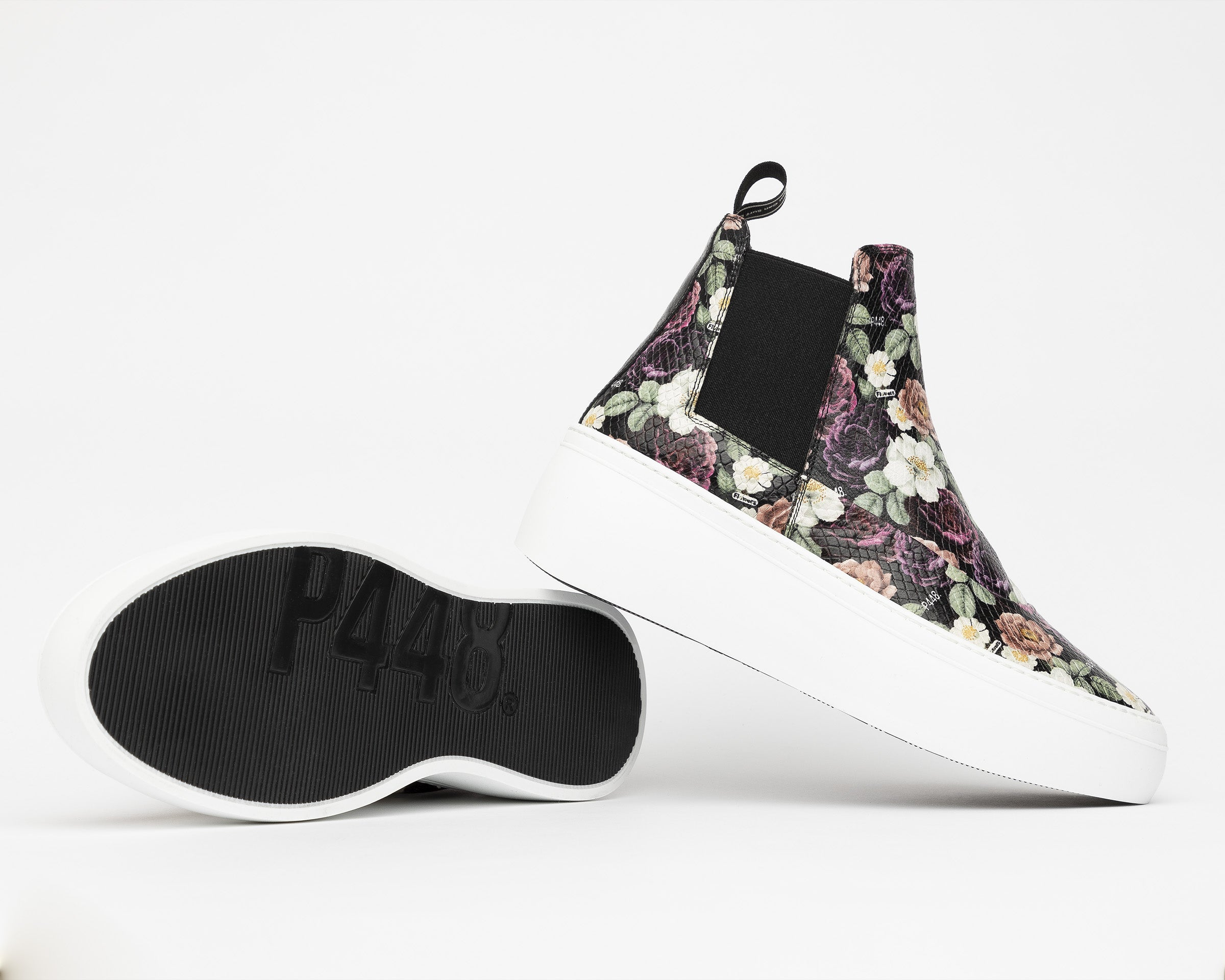 Lucy Chunky Platform Sneaker in Flowers - Detail 1