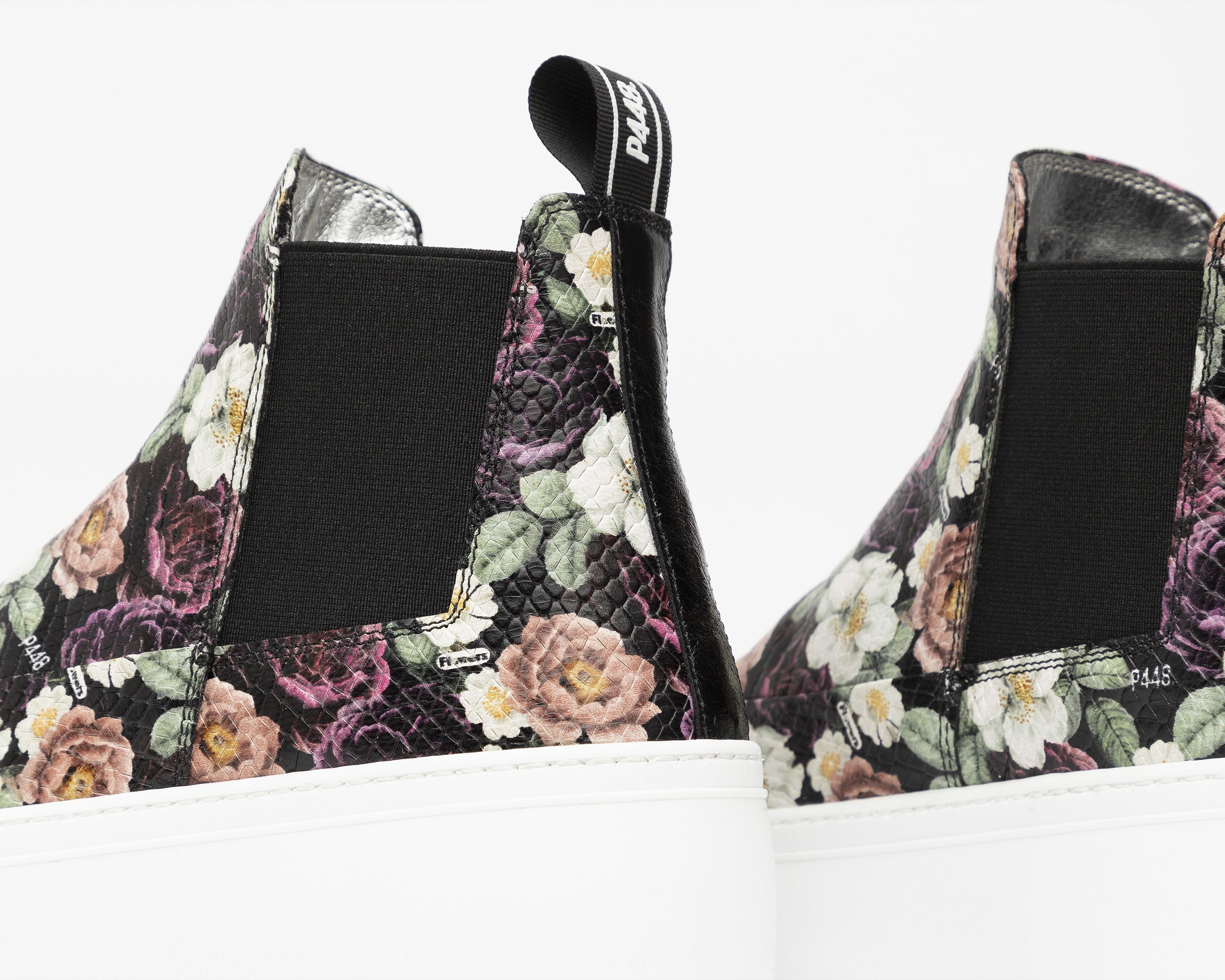 Lucy Chunky Platform Sneaker in Flowers - Detail 3