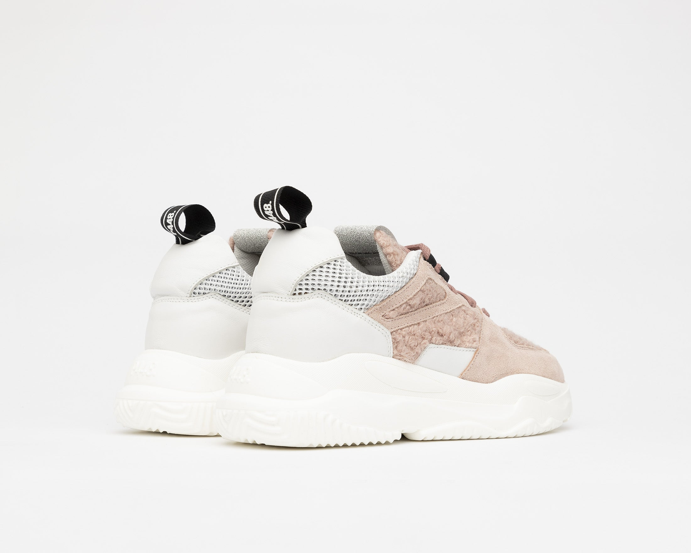 Luke Chunky Sneaker in Lamb - Back