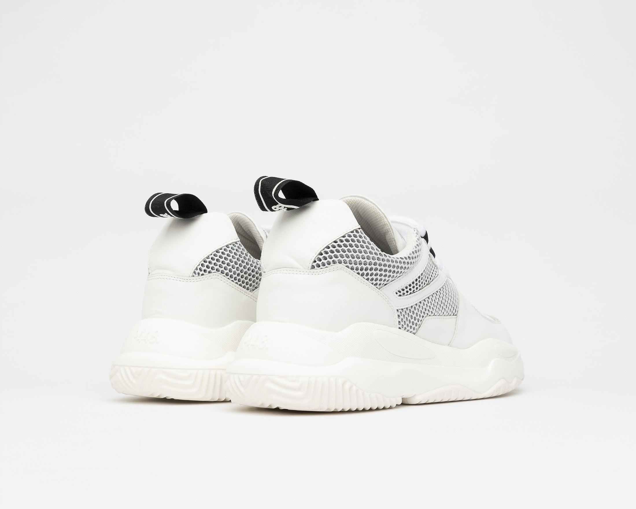 Luke Chunky Sneaker in WhiteR Recycled Leather - Back