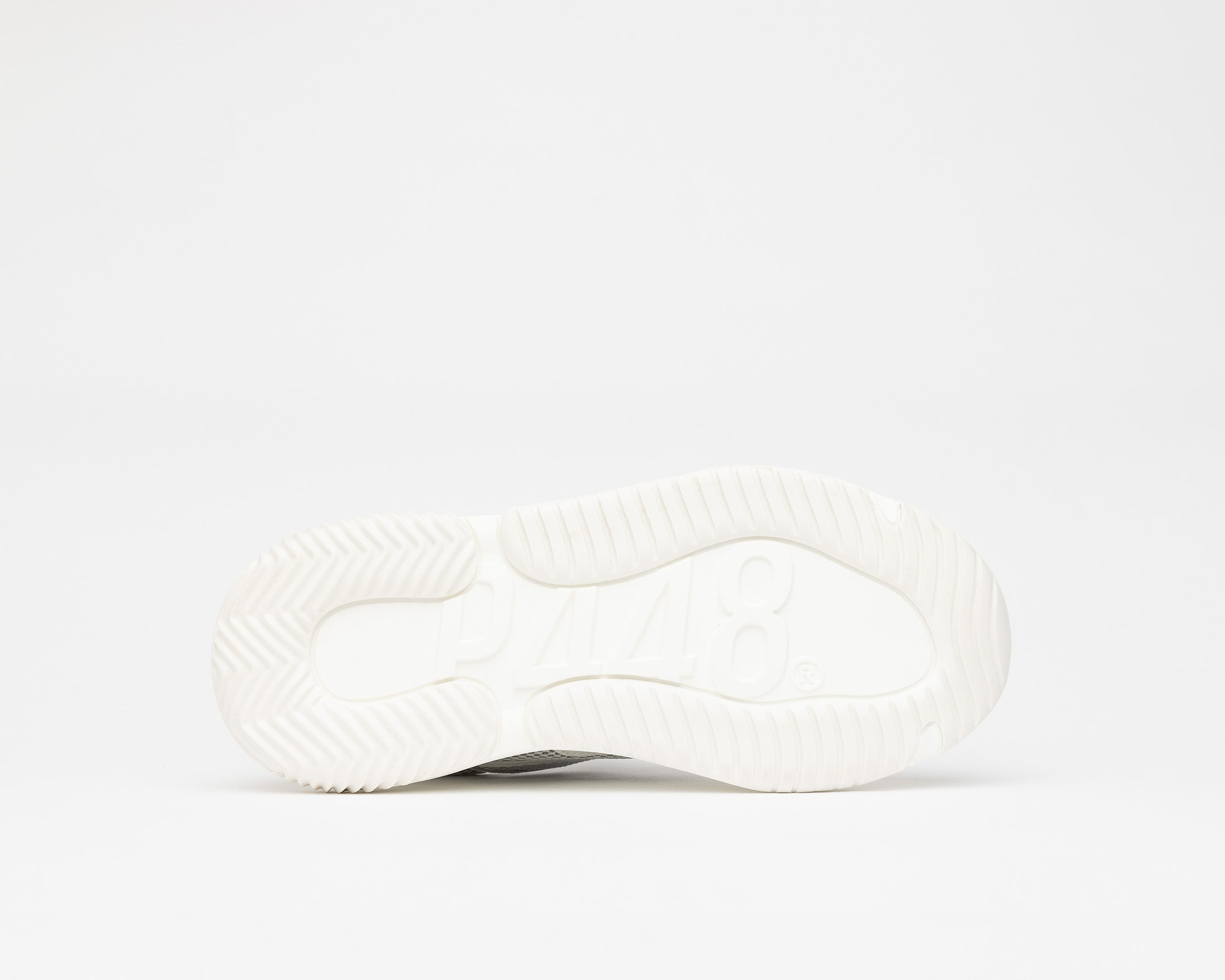 Luke Chunky Sneaker in WhiteR Recycled Leather - Bottom