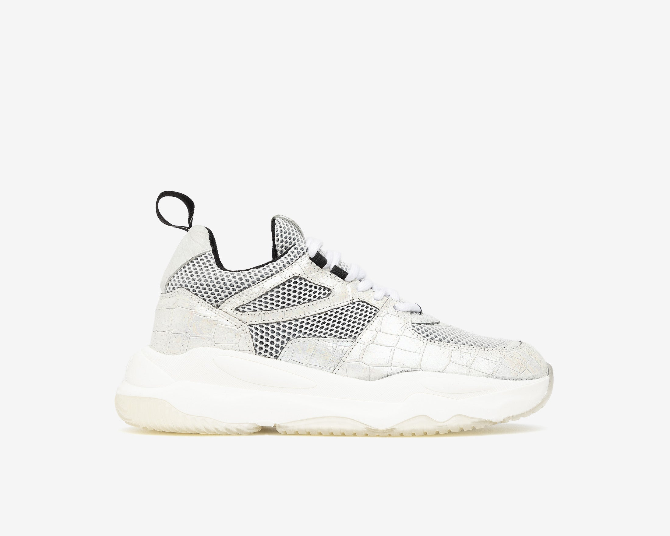 Luke Chunky Sneaker in White Zebra - Profile
