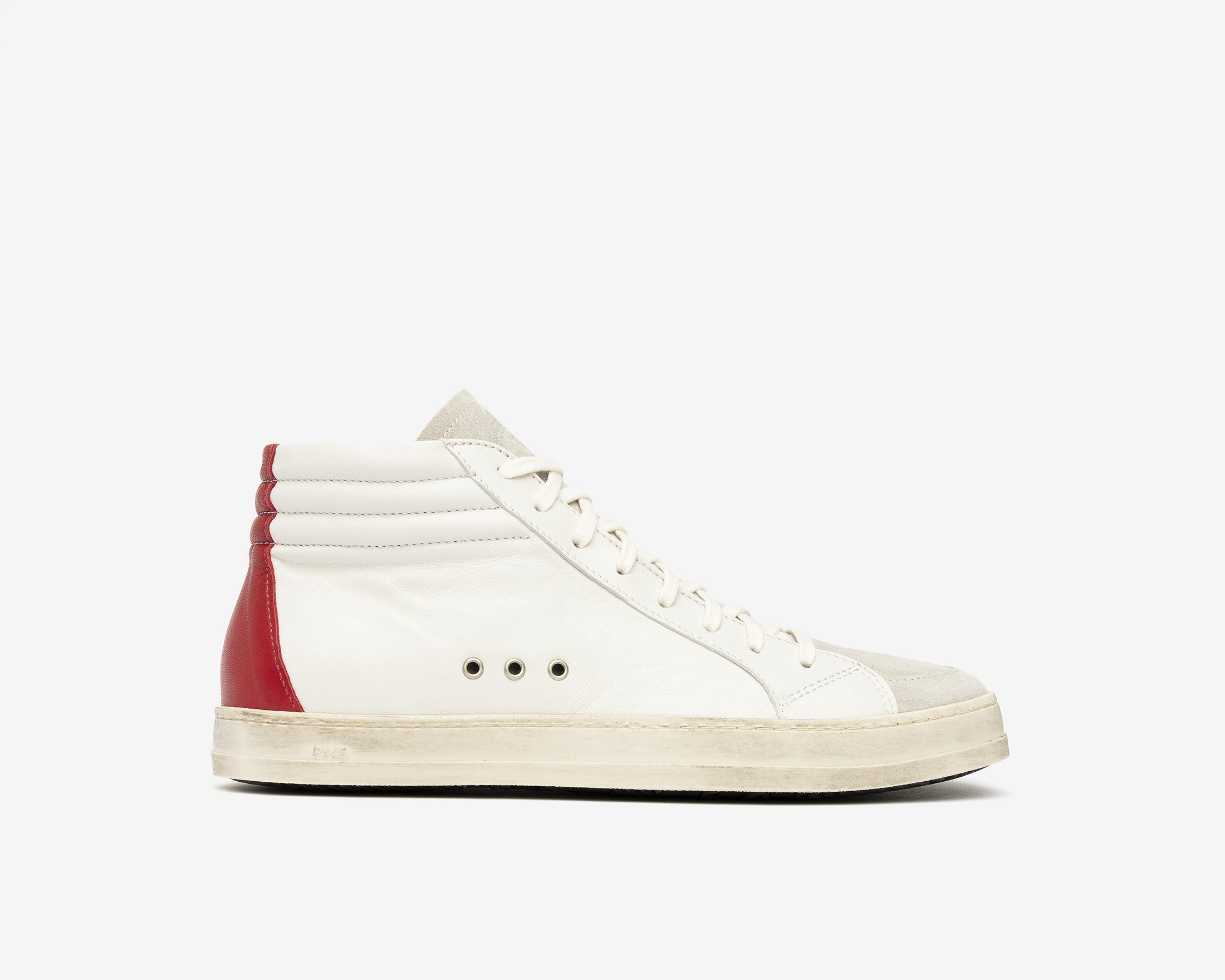 Skate Mens High-Top Sneaker Cream/Red