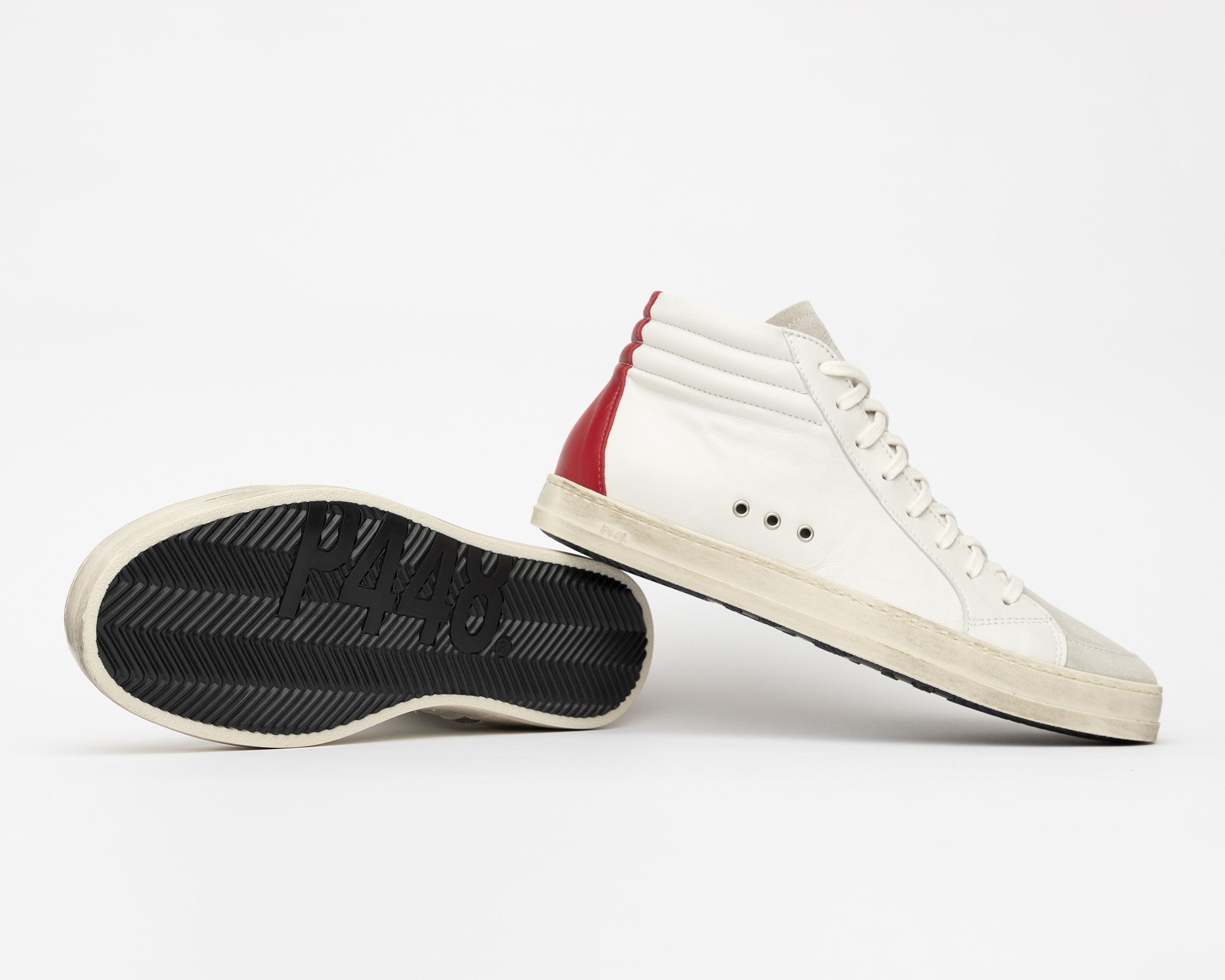 Skate Men's High-Top Sneaker Cream Red - Detail2