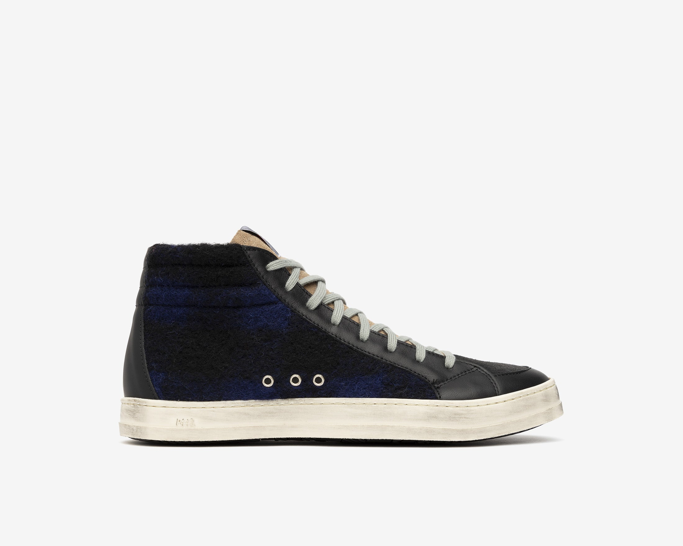 Skate High-Top Sneaker in Tartan/Royal - Profile