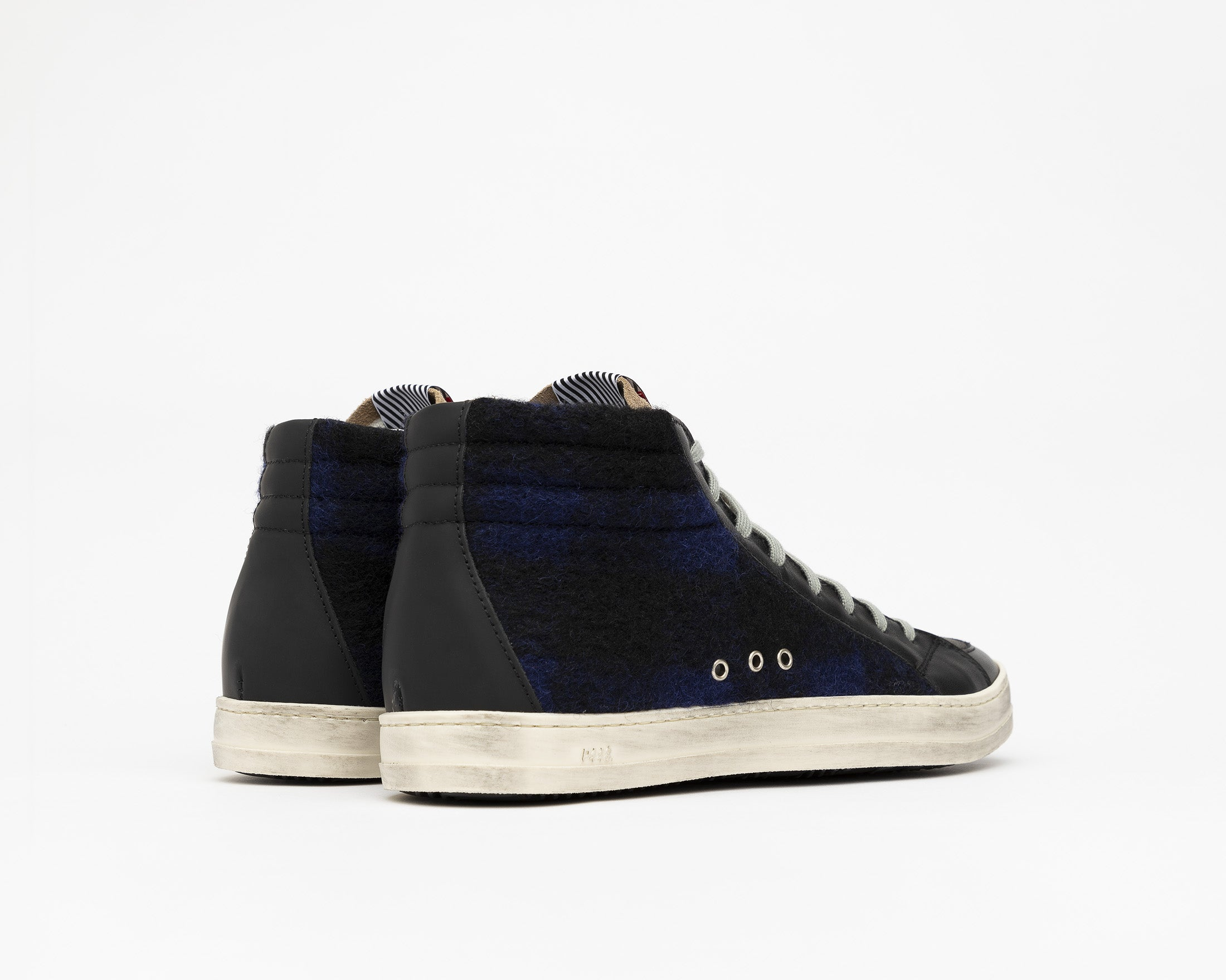 Skate High-Top Sneaker in Tartan/Royal - Back