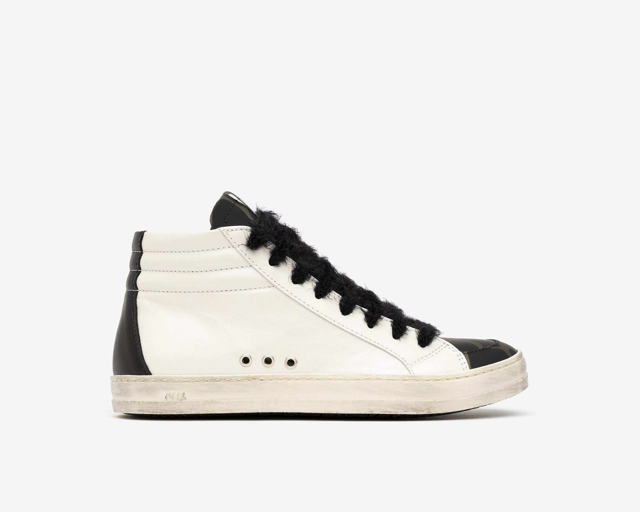 Skate High-Top Sneaker in White/Army Giraffe - Profile
