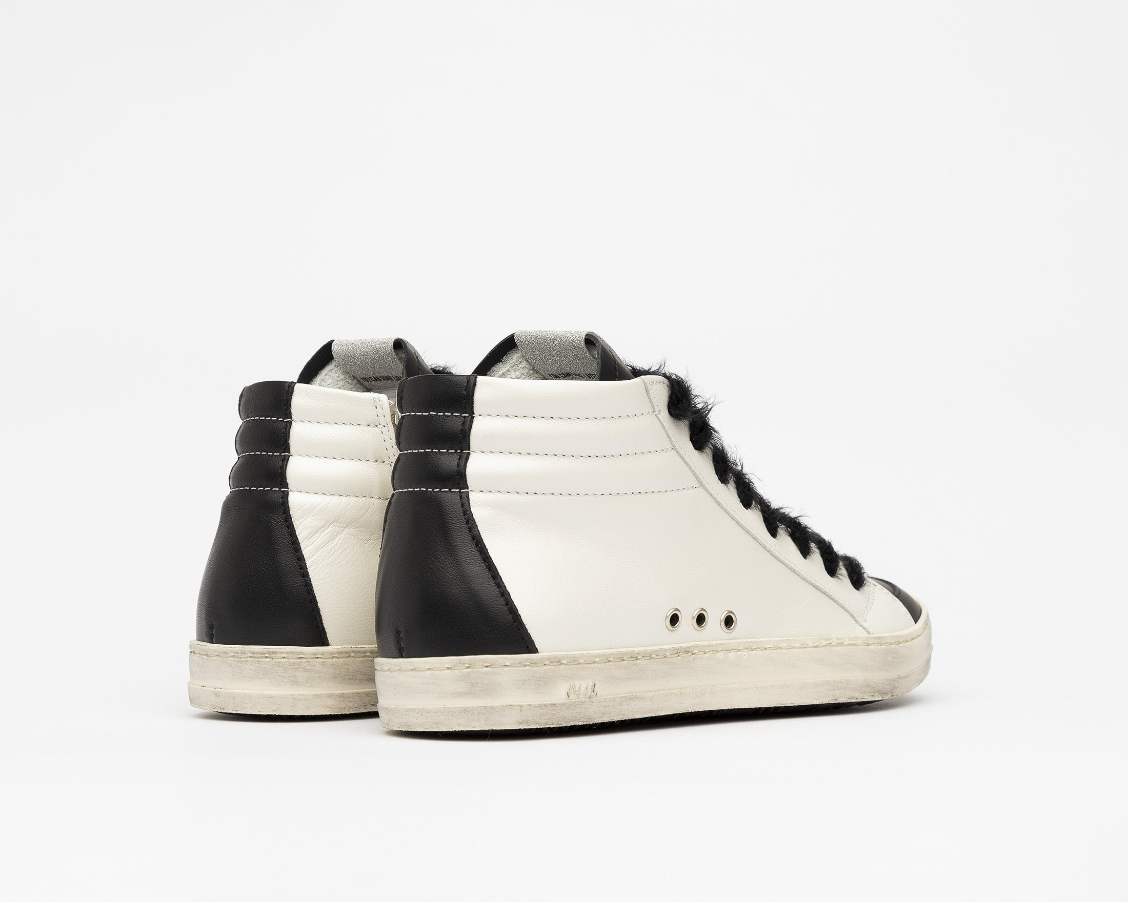 Skate High-Top Sneaker in White/Army Giraffe - Back