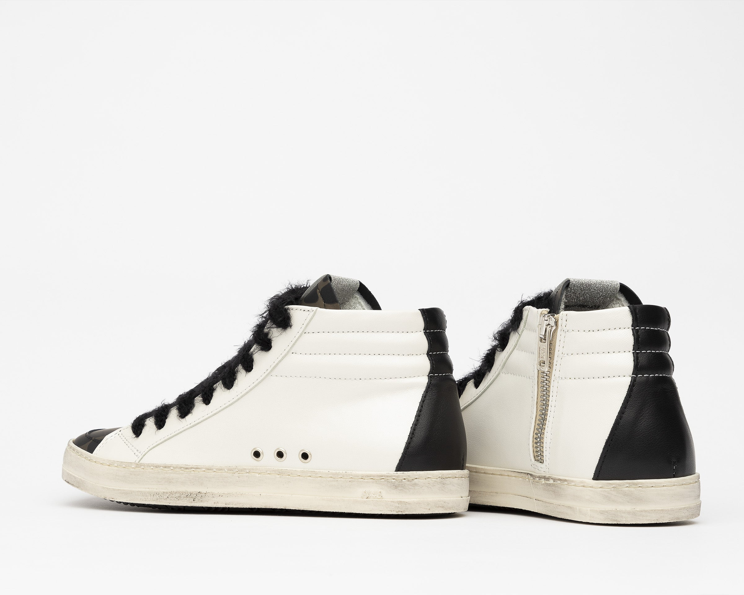Skate High-Top Sneaker in White/Army Giraffe - Detail 2