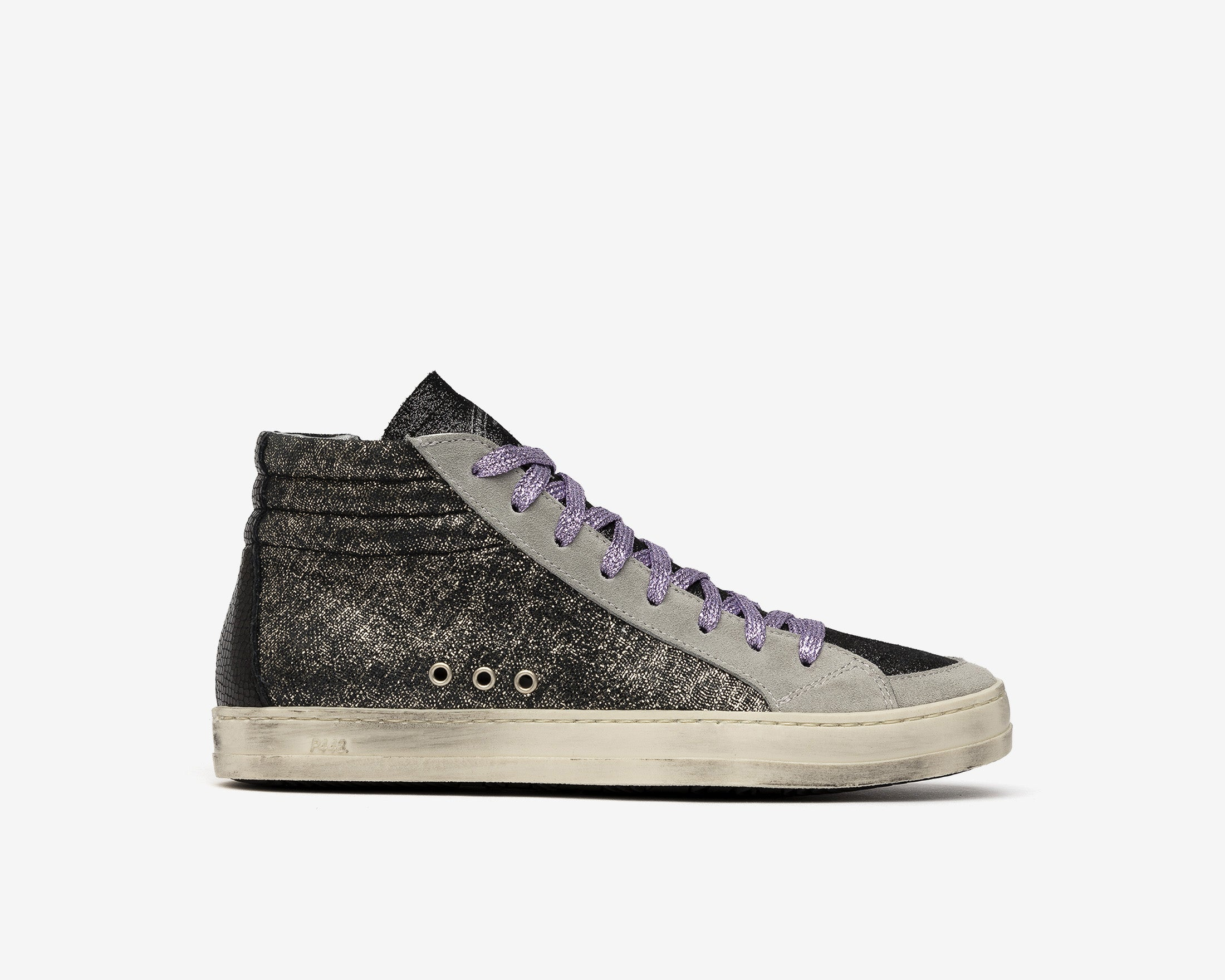 Skate High-Top Sneaker in Black/Loft - Profile