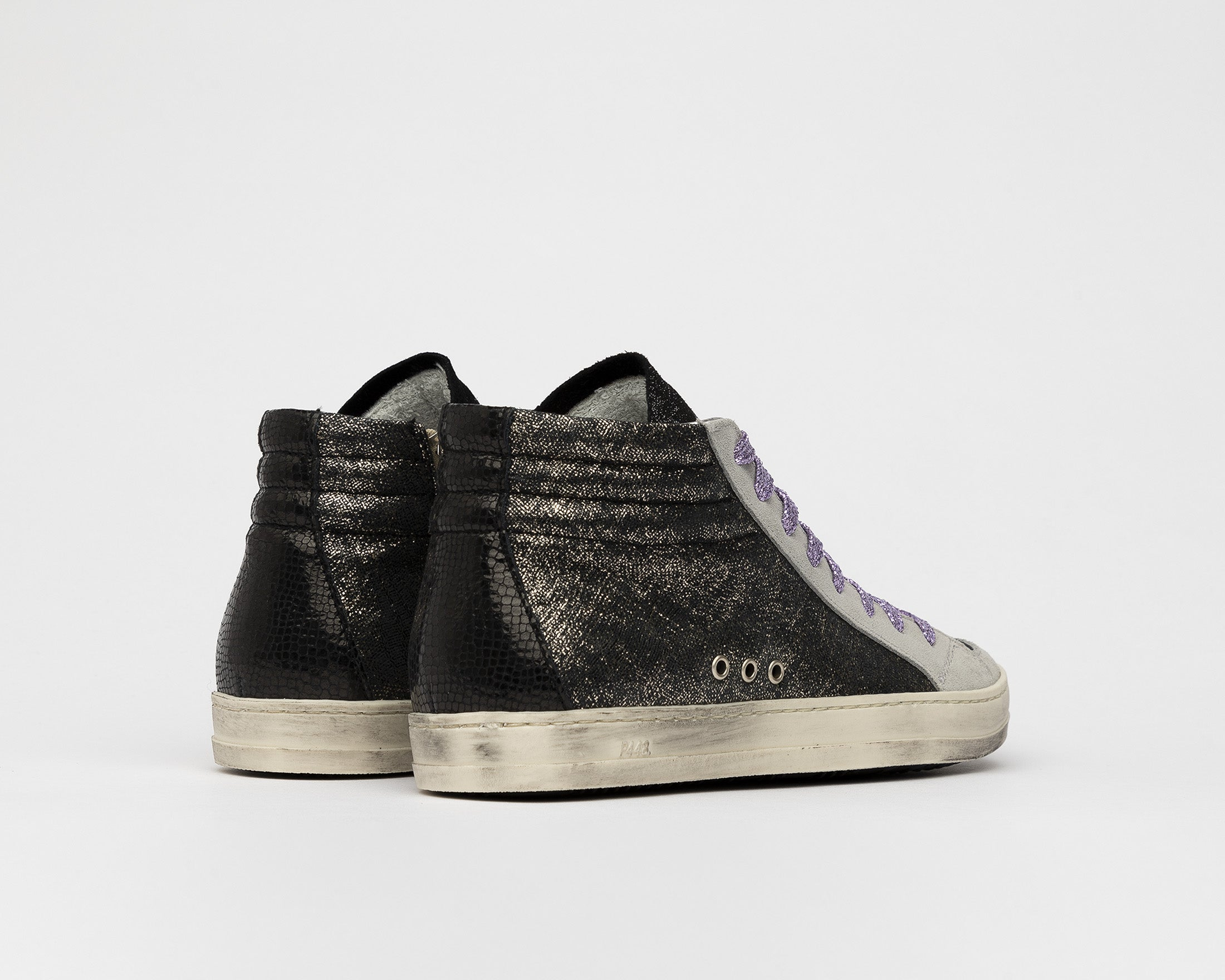 Skate High-Top Sneaker in Black/Loft - Back