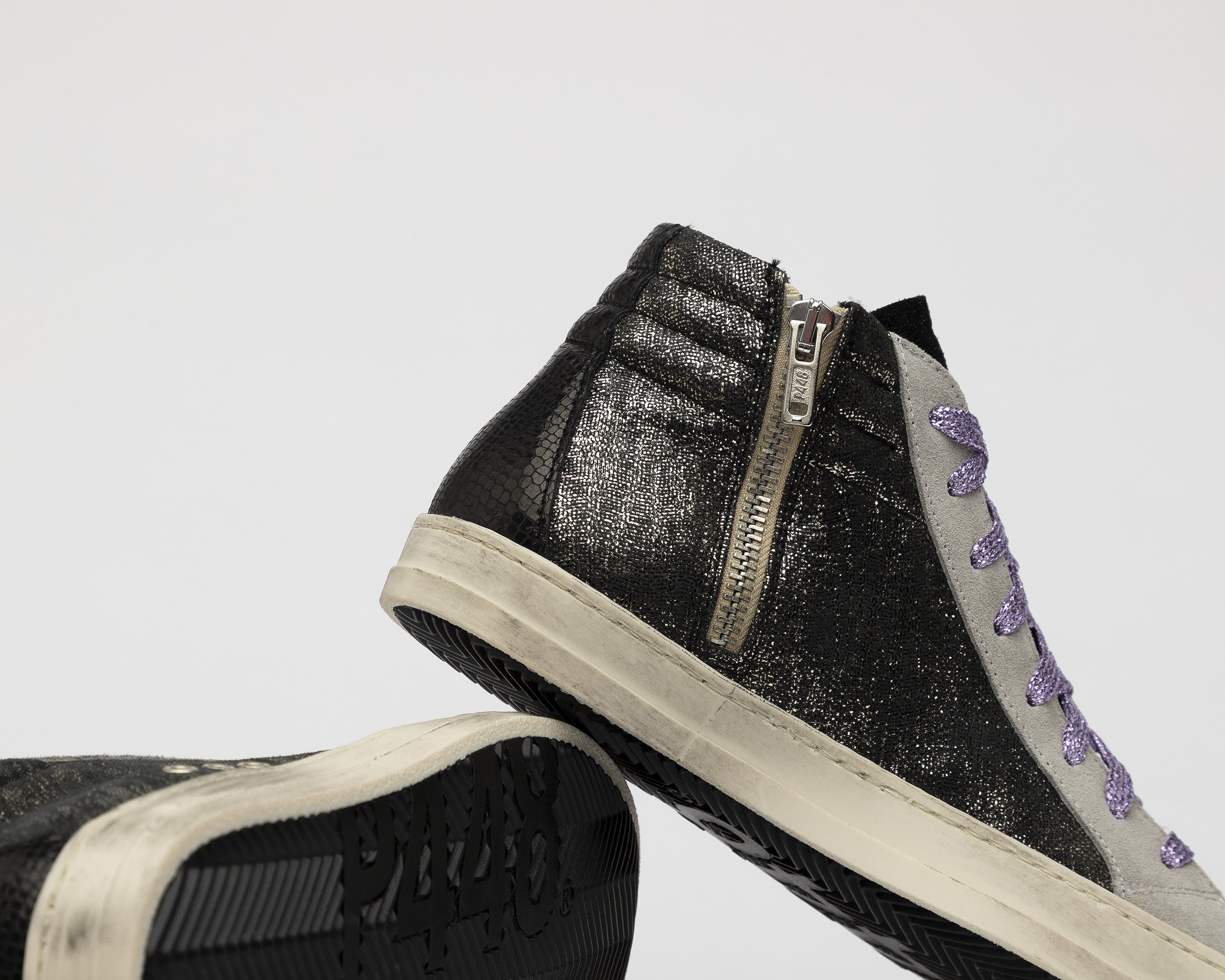 Skate High-Top Sneaker in Black/Loft - Detail 1