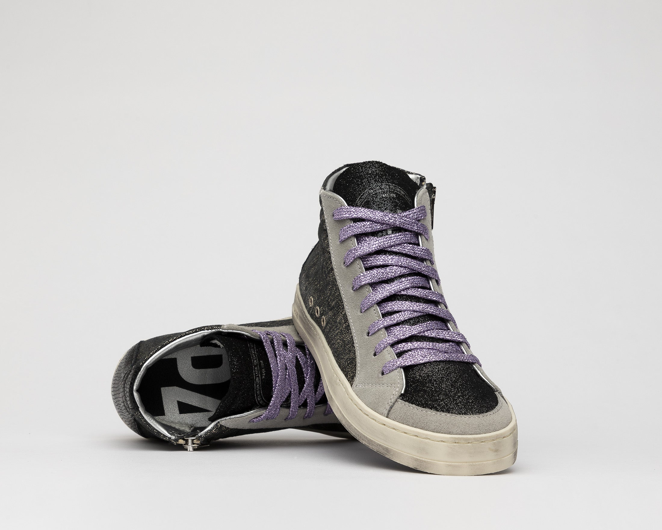 Skate High-Top Sneaker in Black/Loft - Detail 2