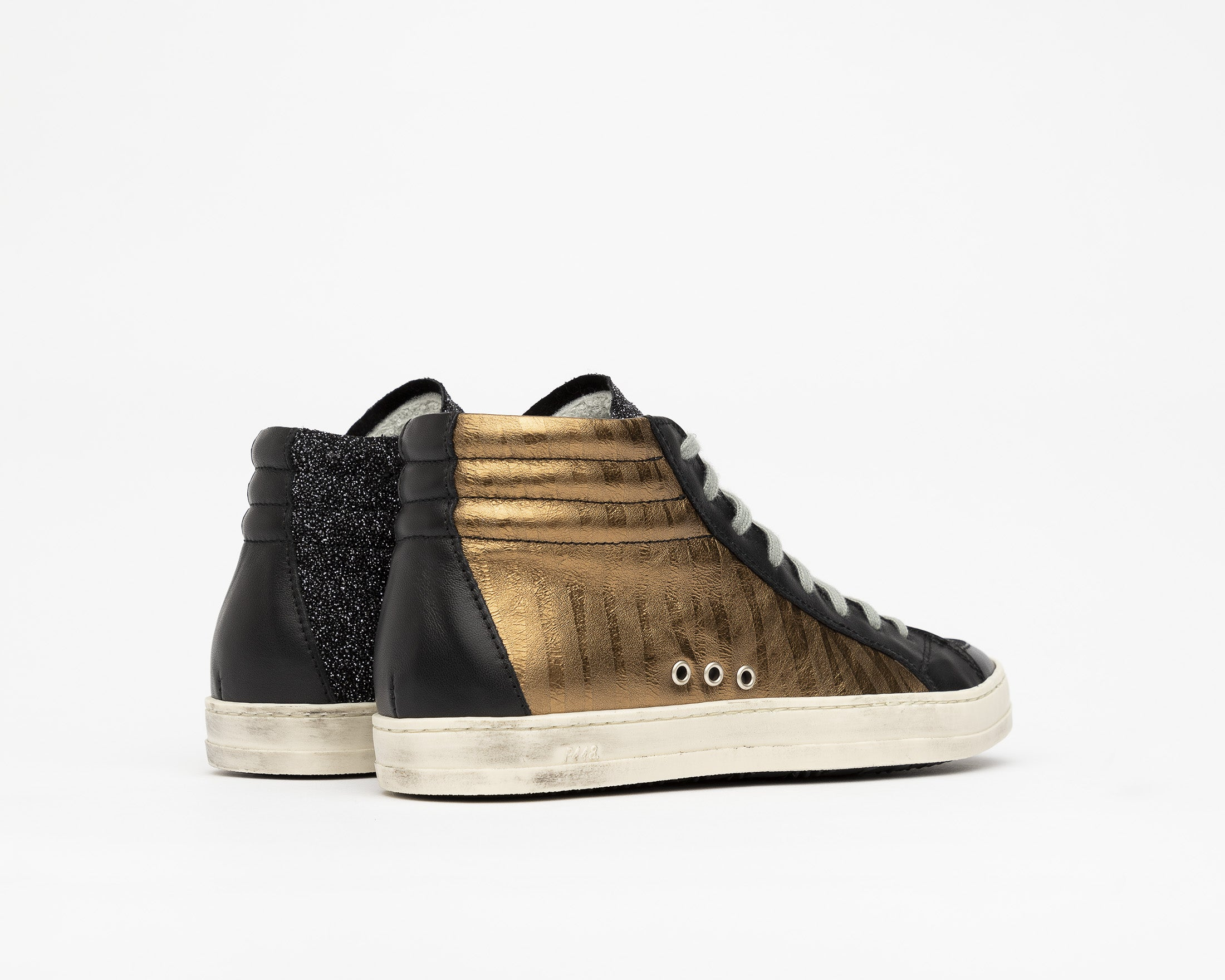 SkateBS High-Top Sneaker in Sahara - Back