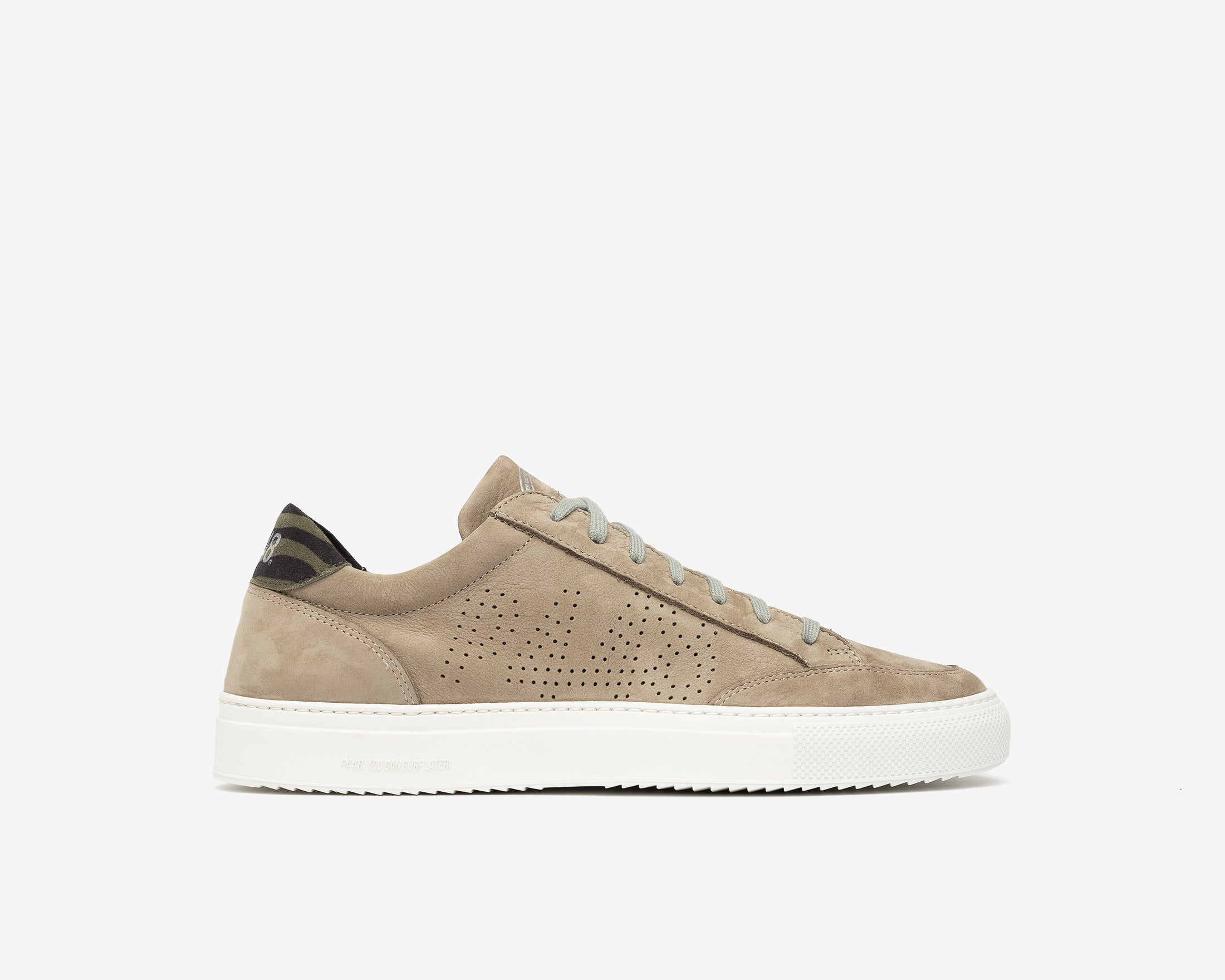Soho Low-Top Sneaker in Gray Nab - Profile