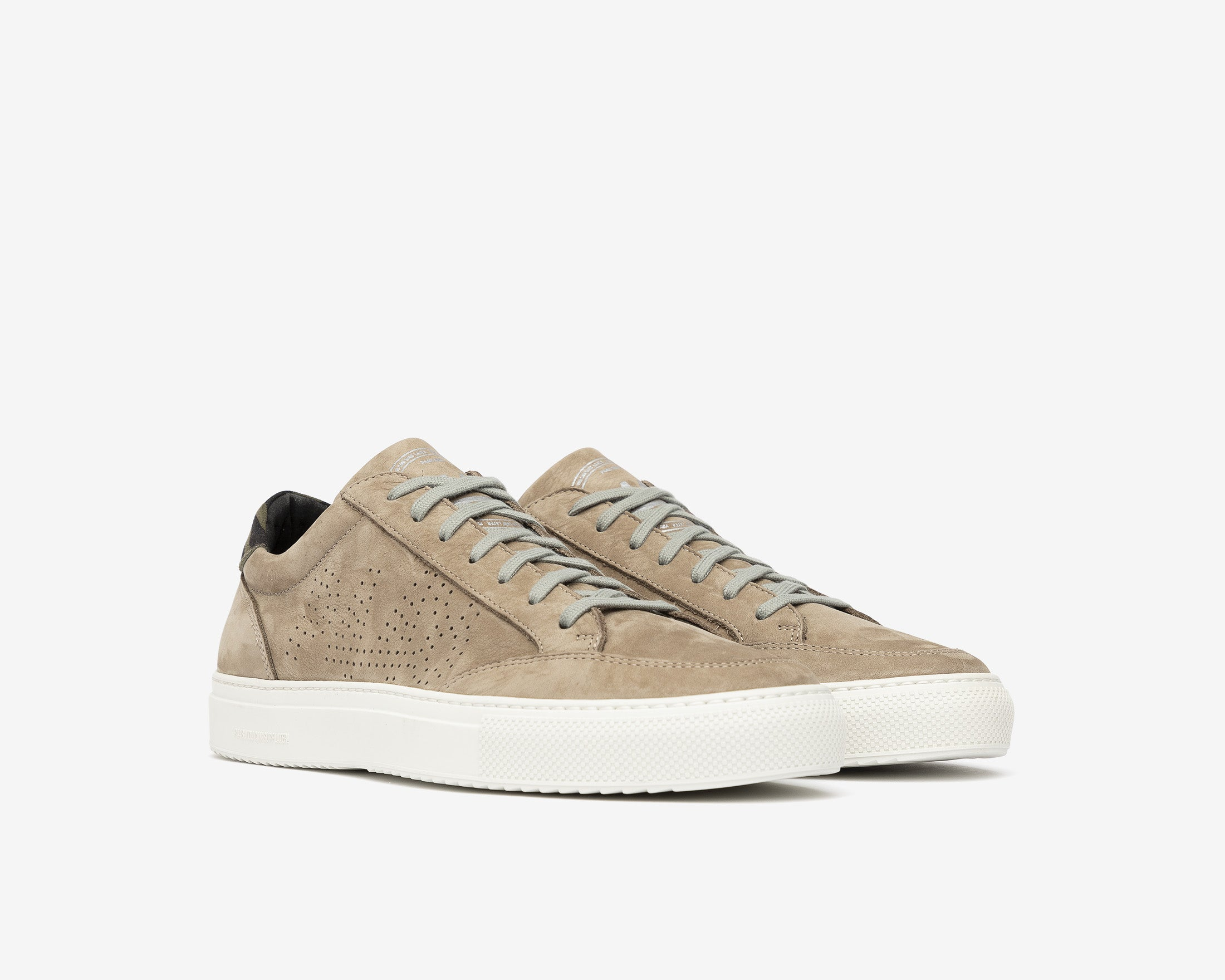 Soho Low-Top Sneaker in Gray Nab - Side