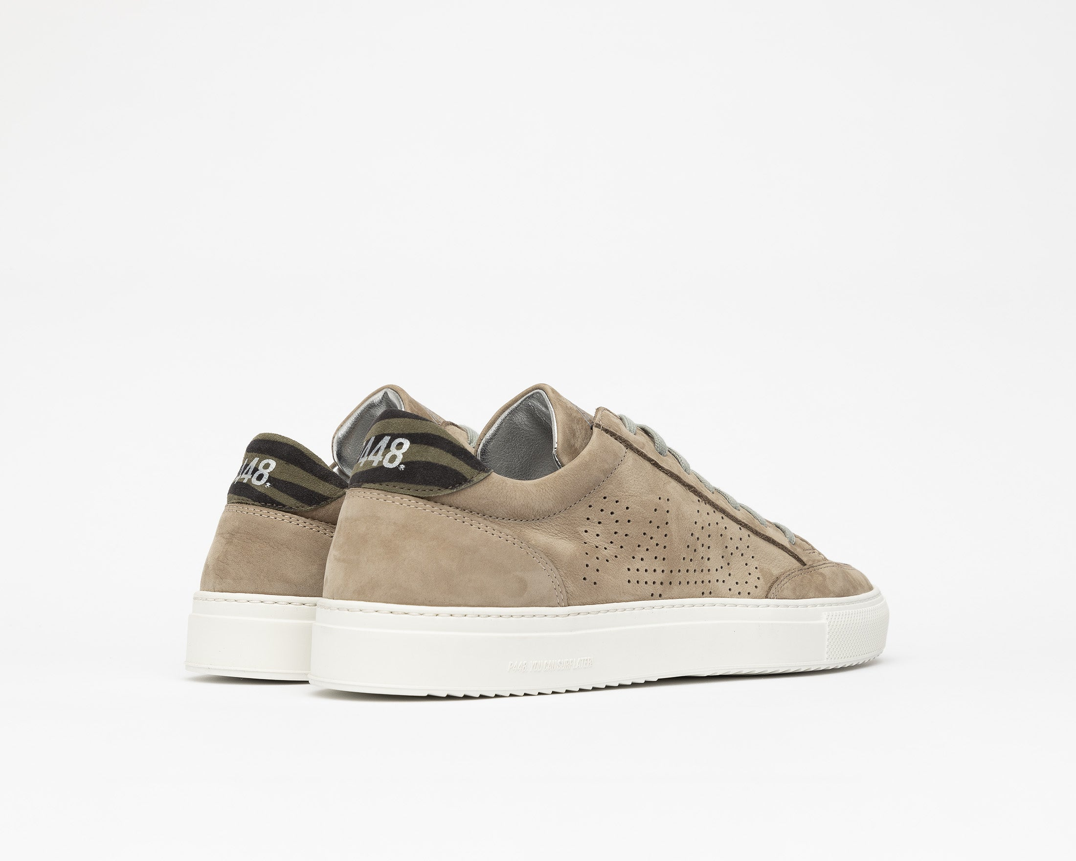 Soho Low-Top Sneaker in Gray Nab - Back