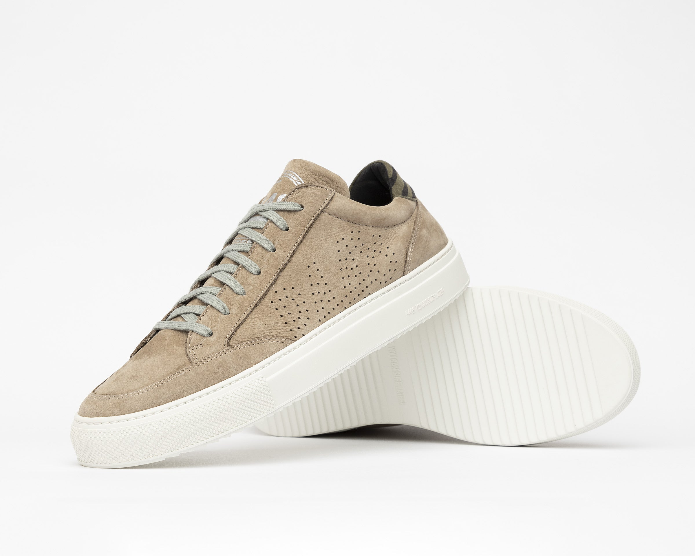 Soho Low-Top Sneaker in Gray Nab - Detail 1