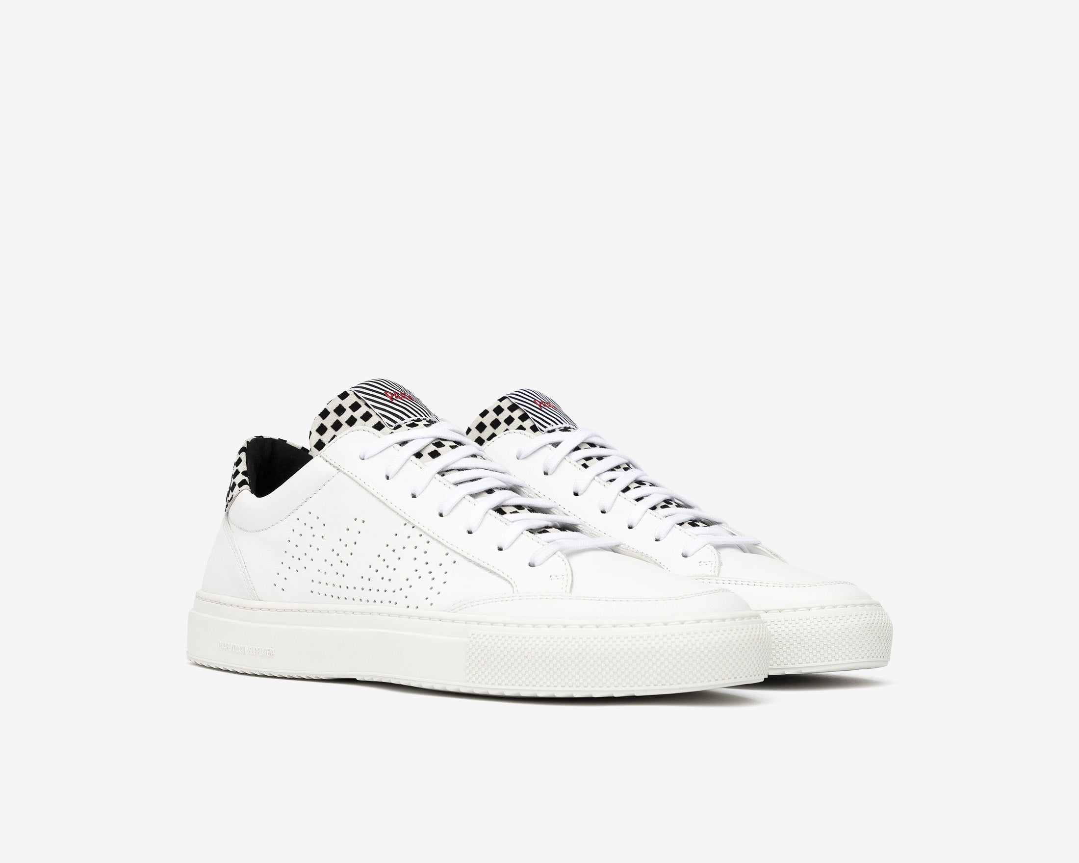 Soho Pull-on Sneaker in White Check - Side