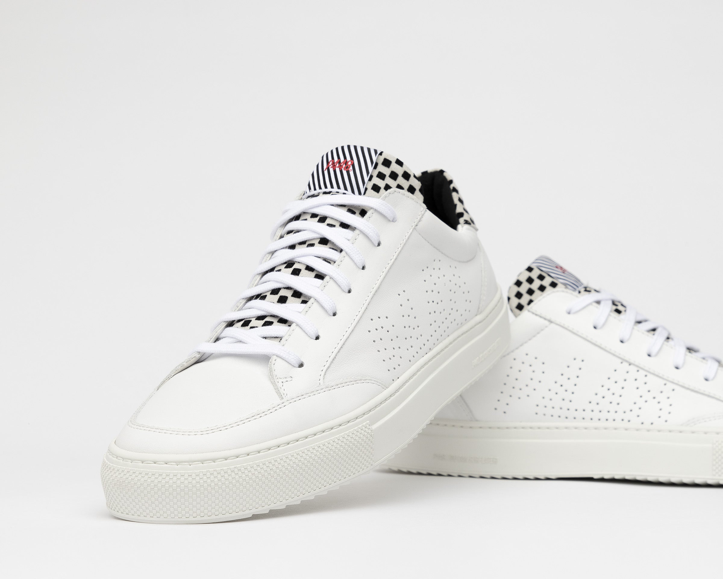 Soho Pull-on Sneaker in White Check - Detail 1