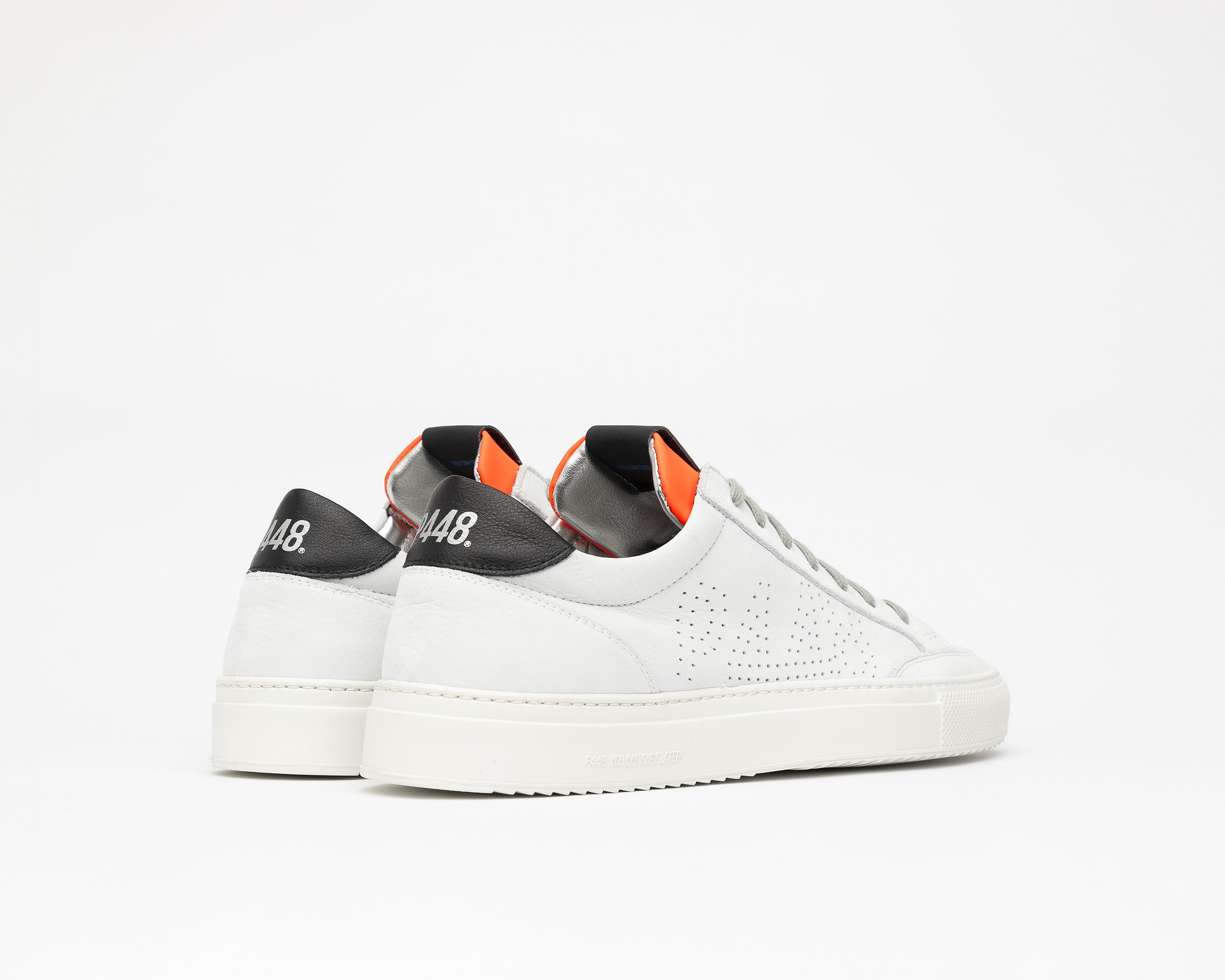 Soho White/Orange - Mens Sneaker - Side2