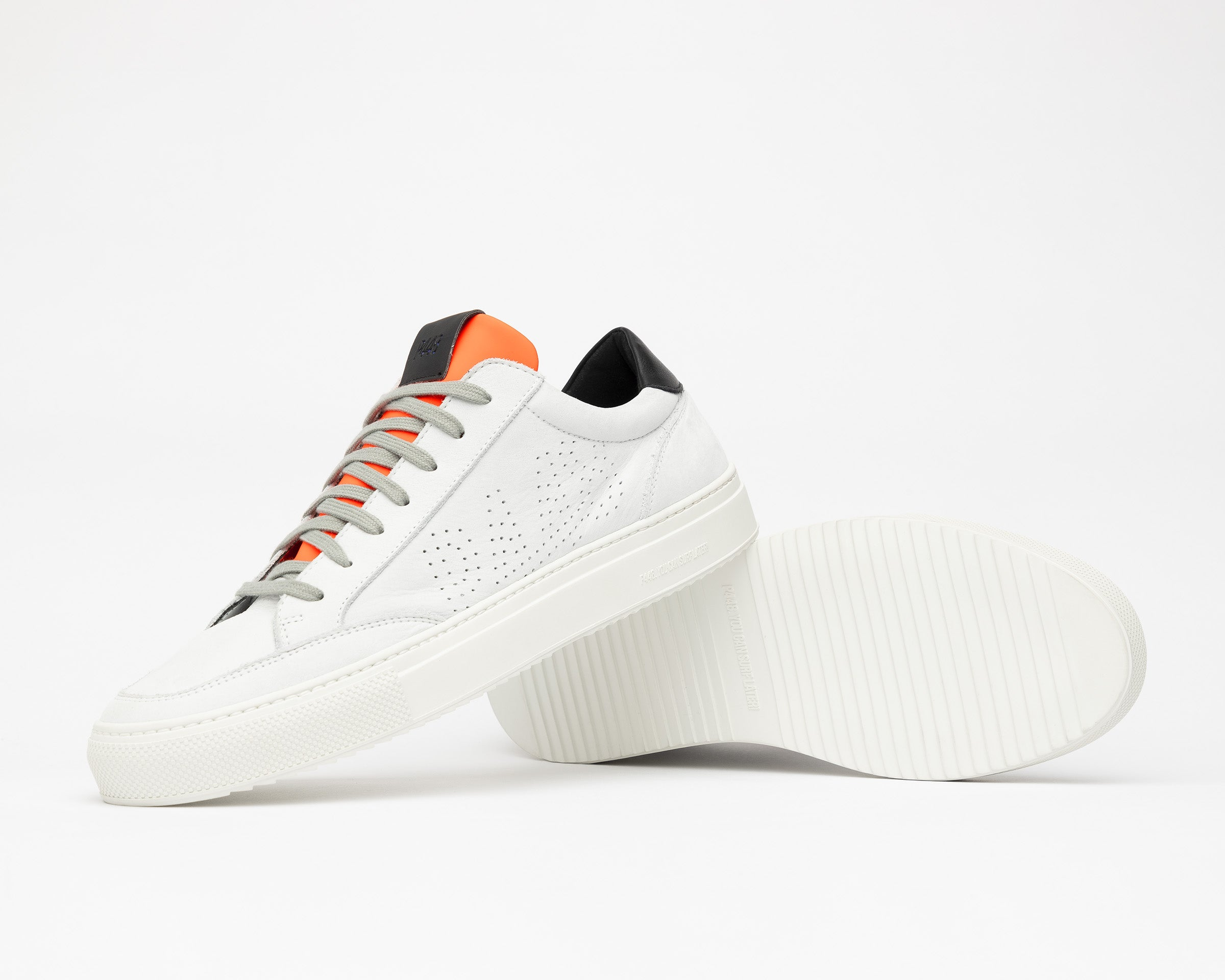Soho White/Orange - Mens Sneaker - Detail
