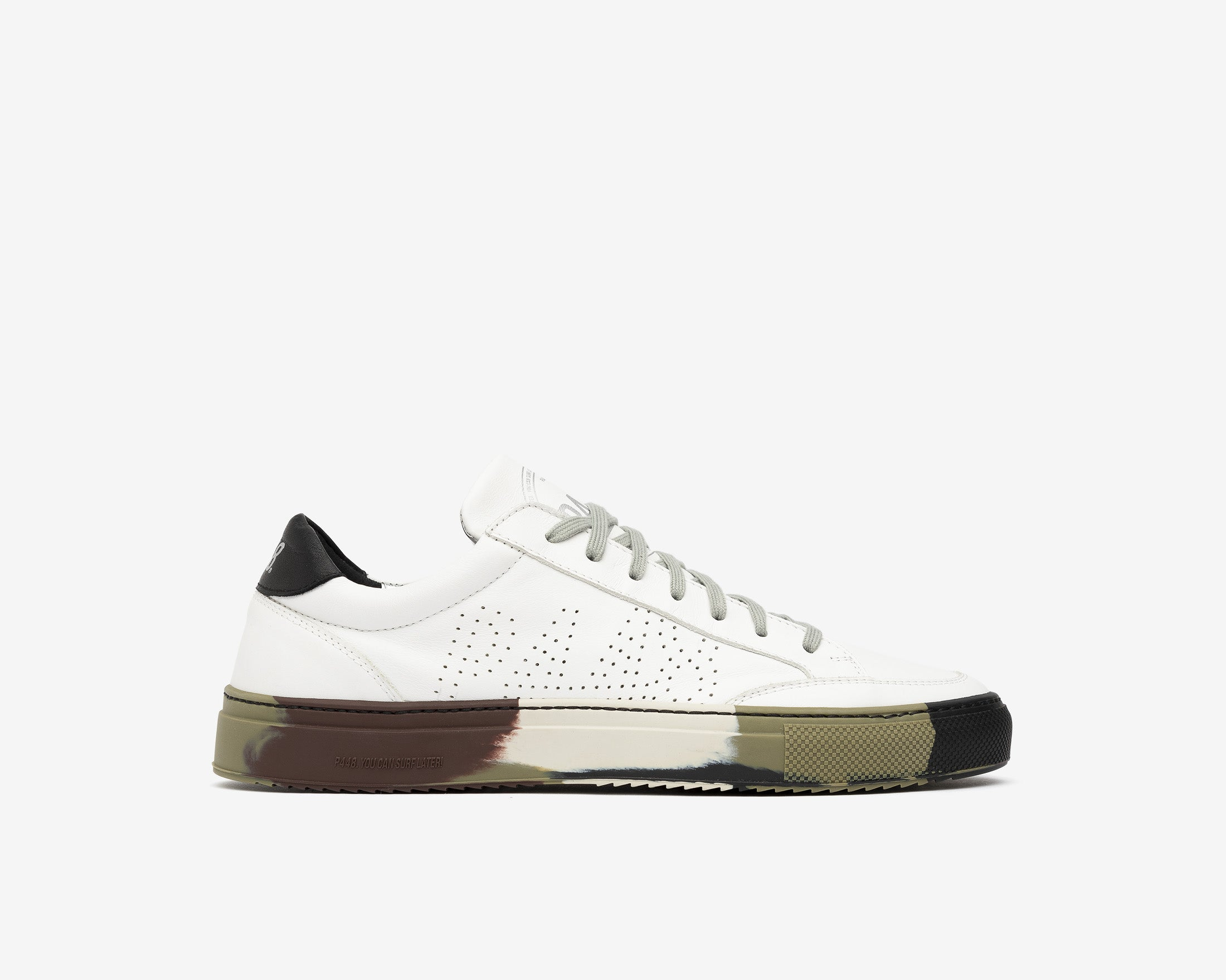 SohoP Low-Top Sneaker in White/Camo - Profile