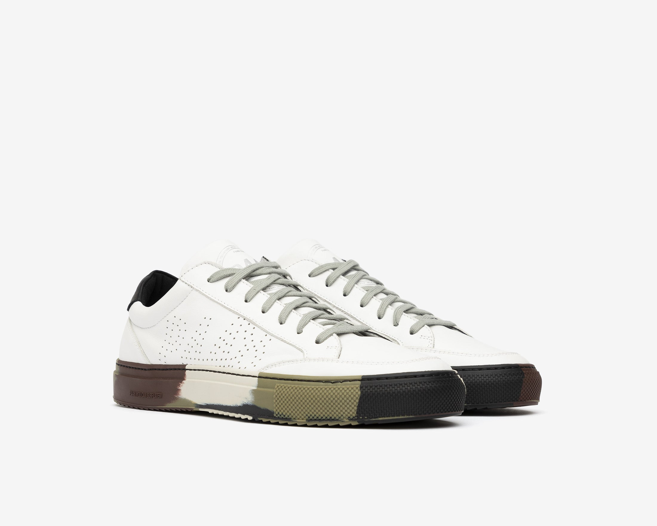 SohoP Low-Top Sneaker in White/Camo - Side