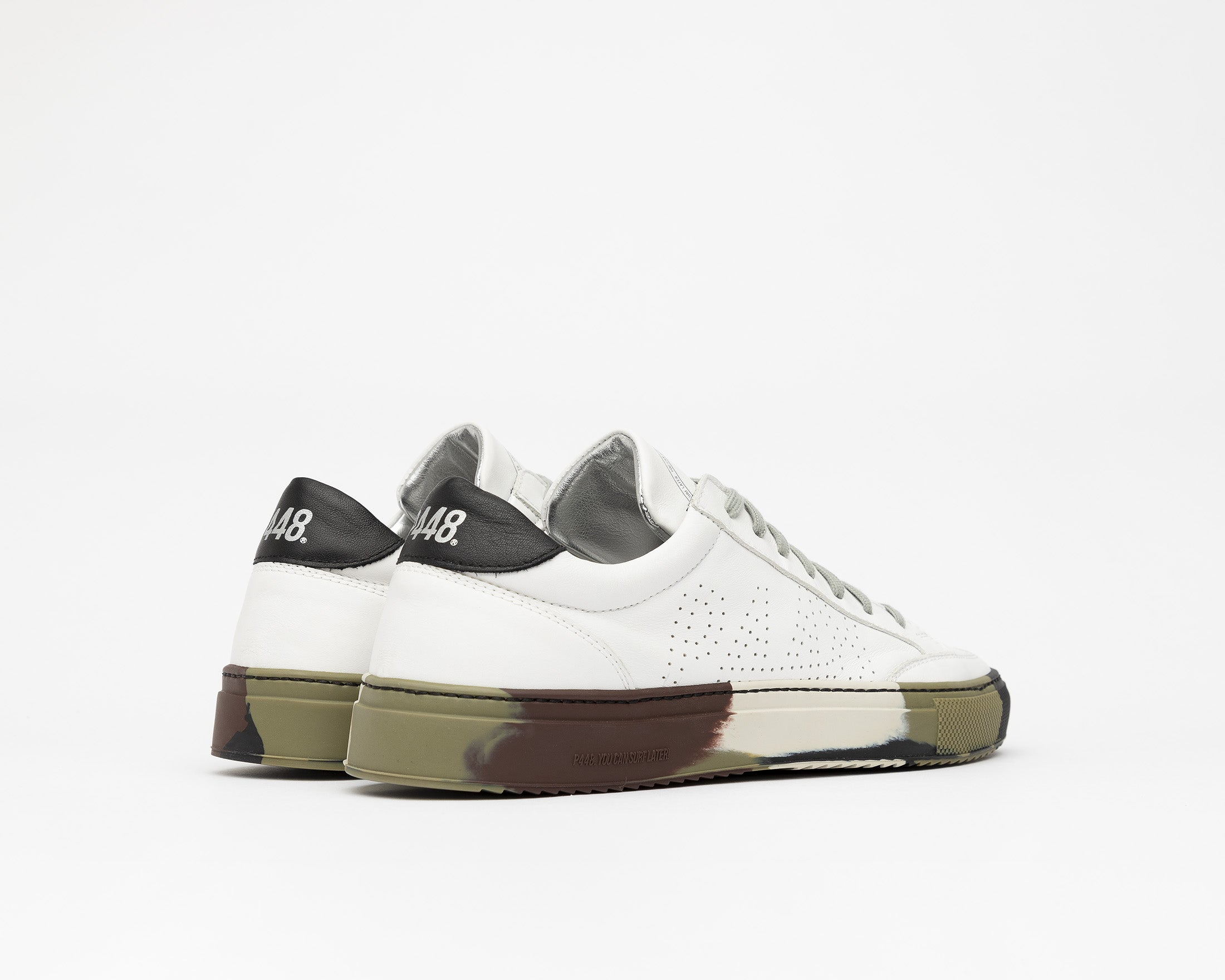 SohoP Low-Top Sneaker in White/Camo - Back