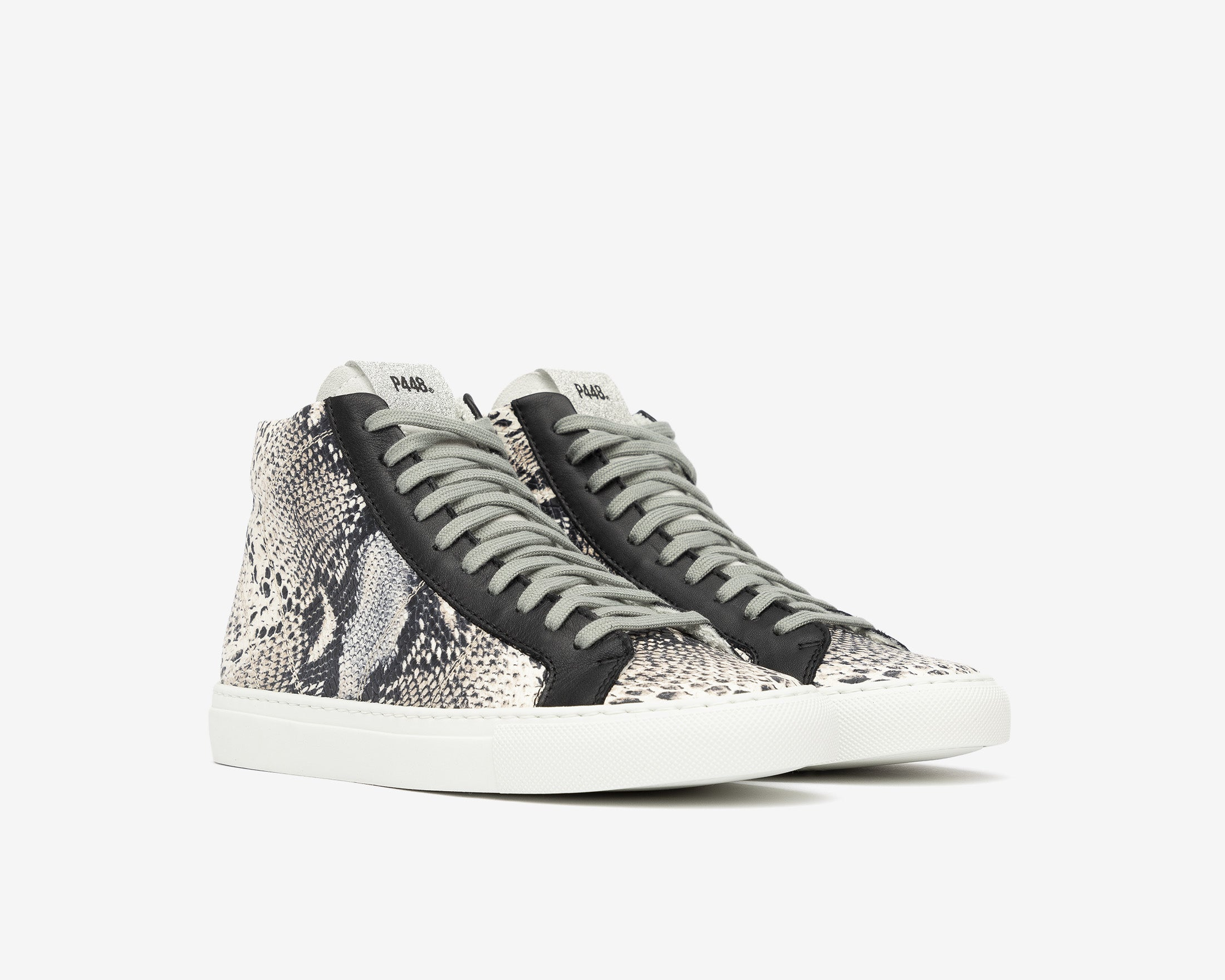Star High-Top Sneaker in Twister Python - Side