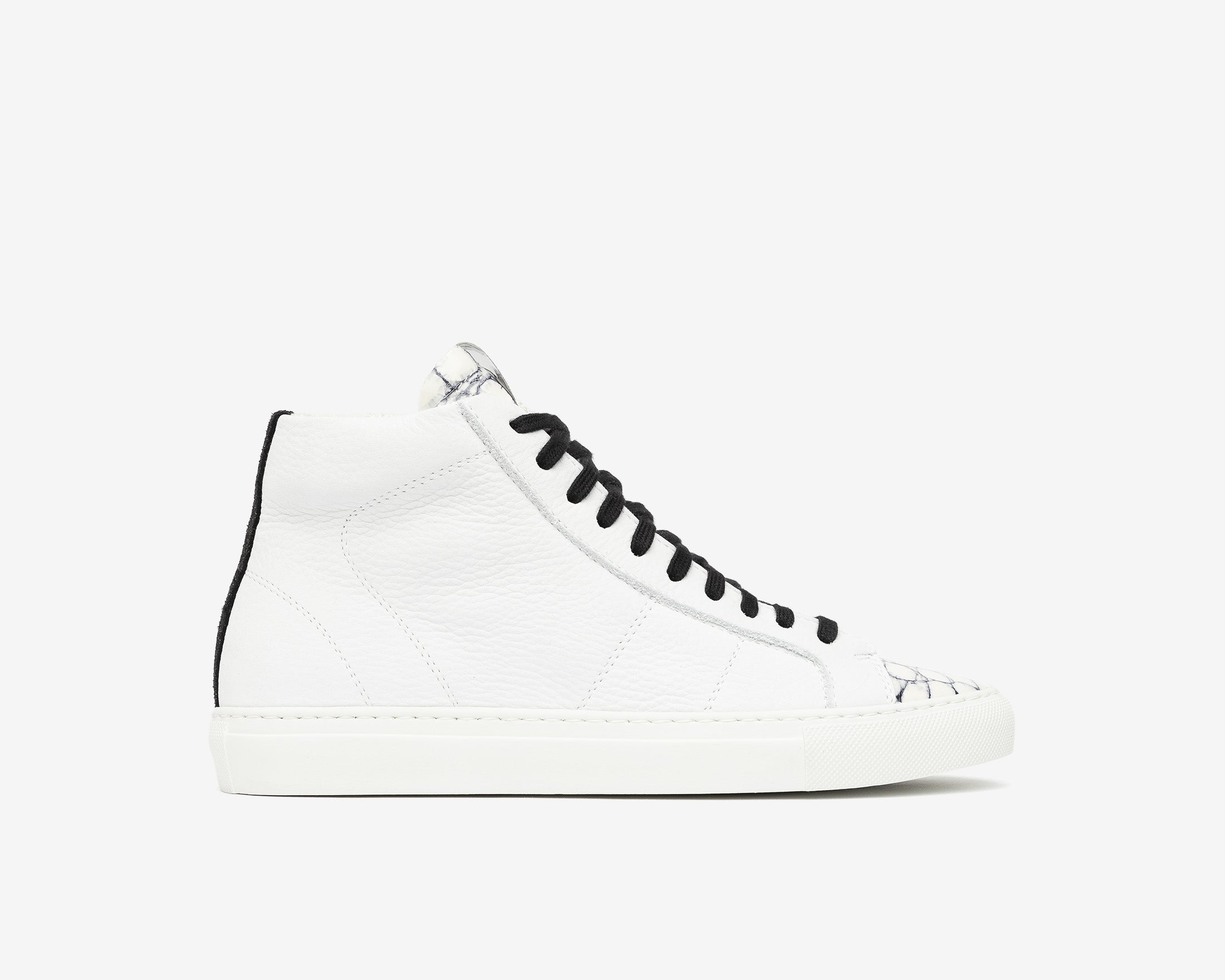 Star High-Top Sneaker in White/Mad - Profile