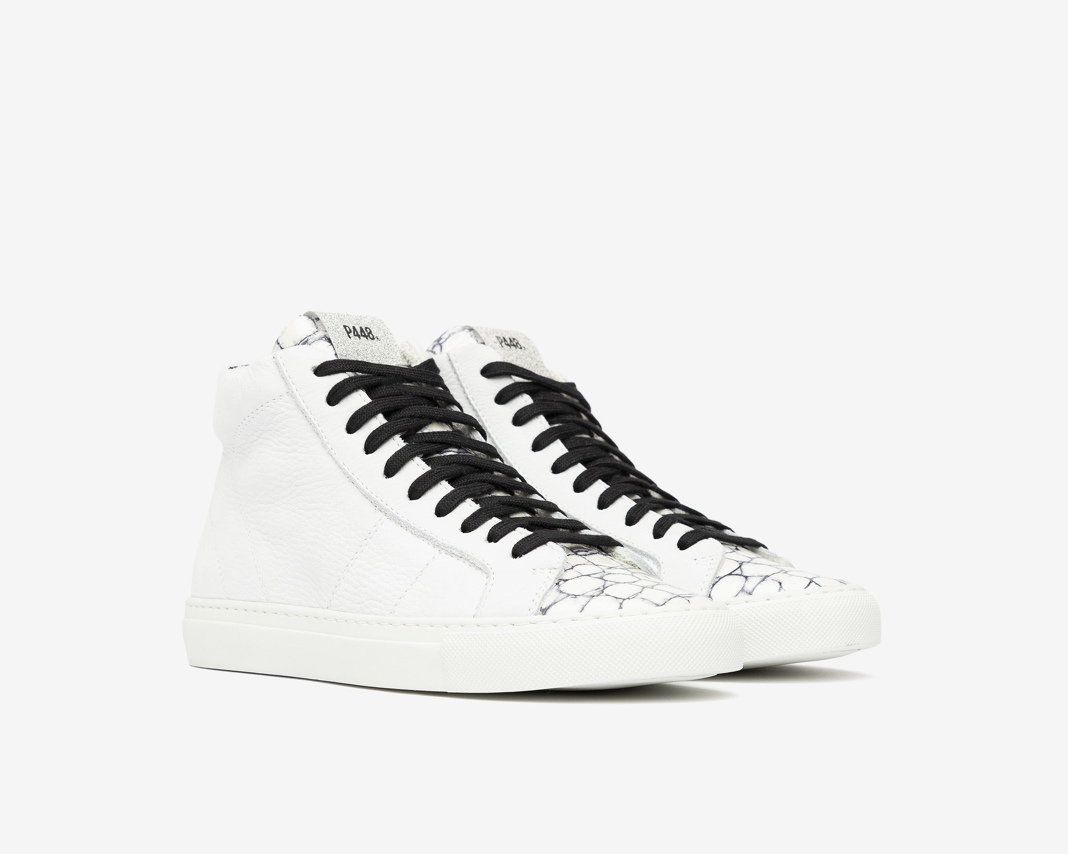 Star High-Top Sneaker in White/Mad - Side