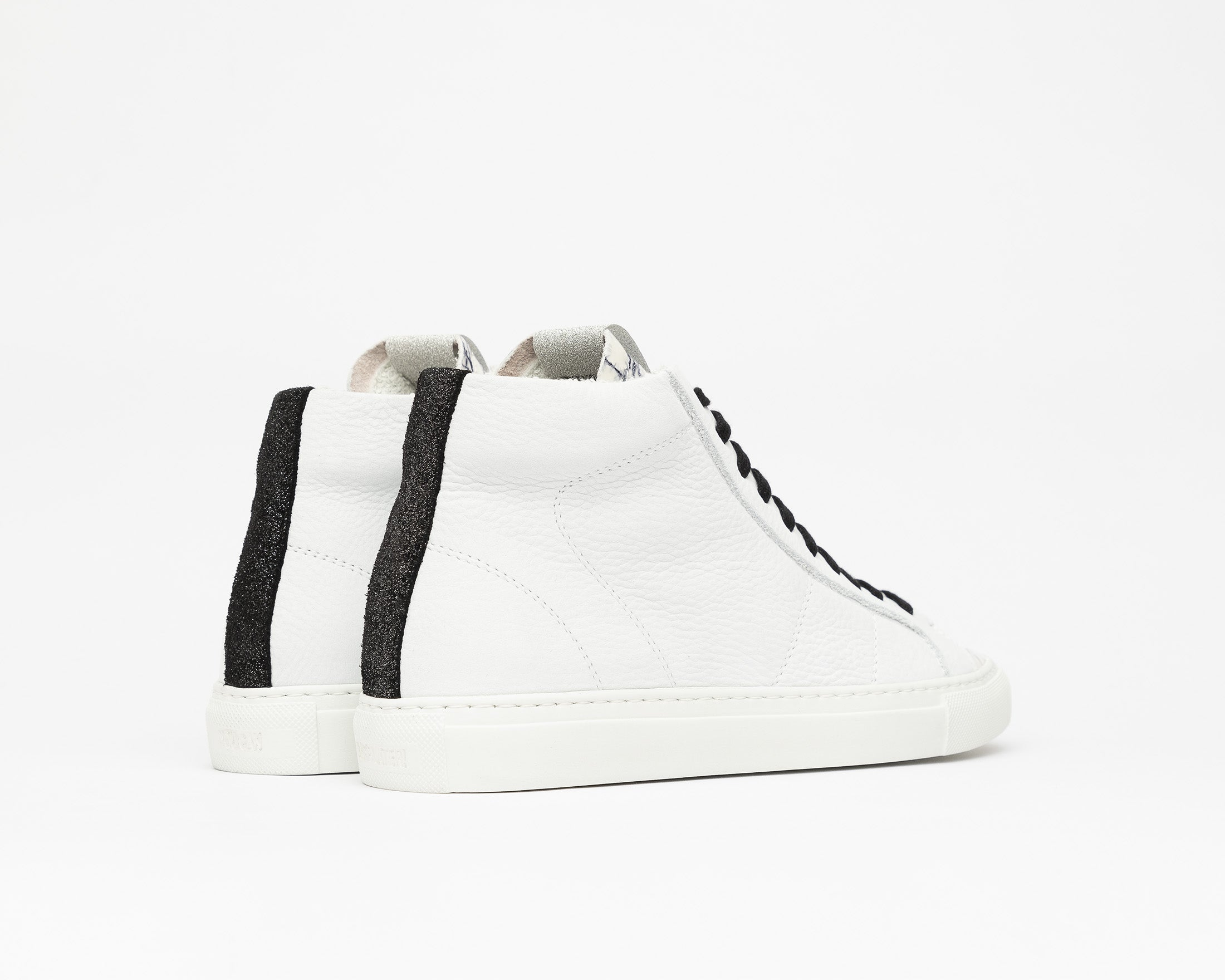Star High-Top Sneaker in White/Mad - Back