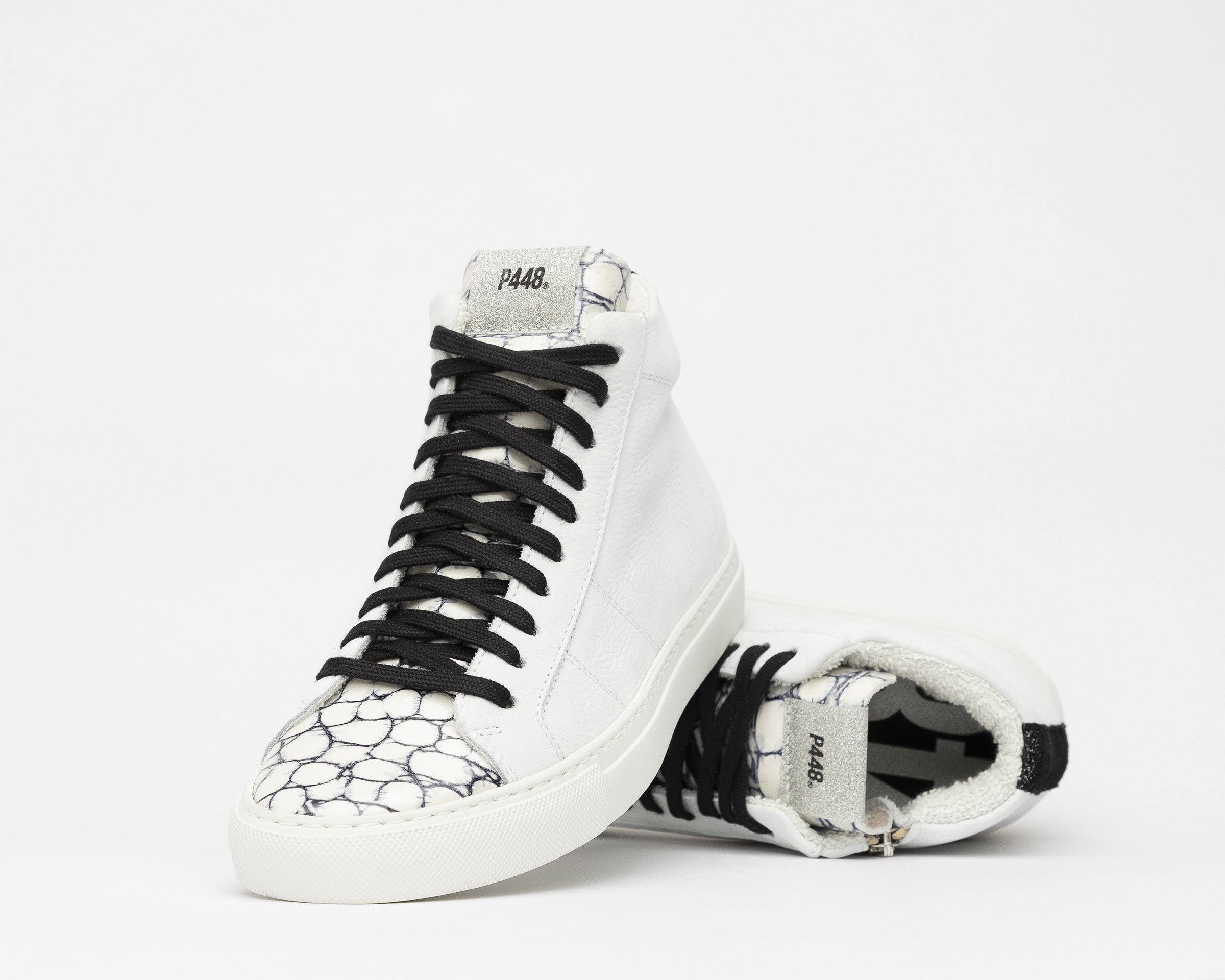 Star High-Top Sneaker in White/Mad - Detail