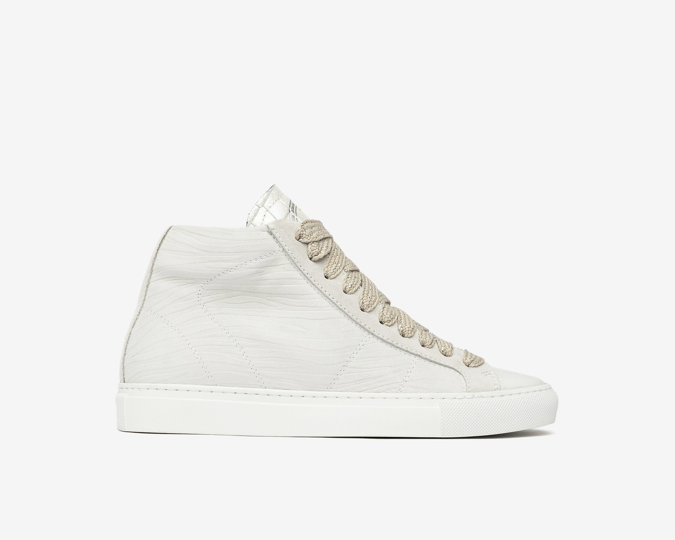 Star High-Top Sneaker in White Zebra - Profile